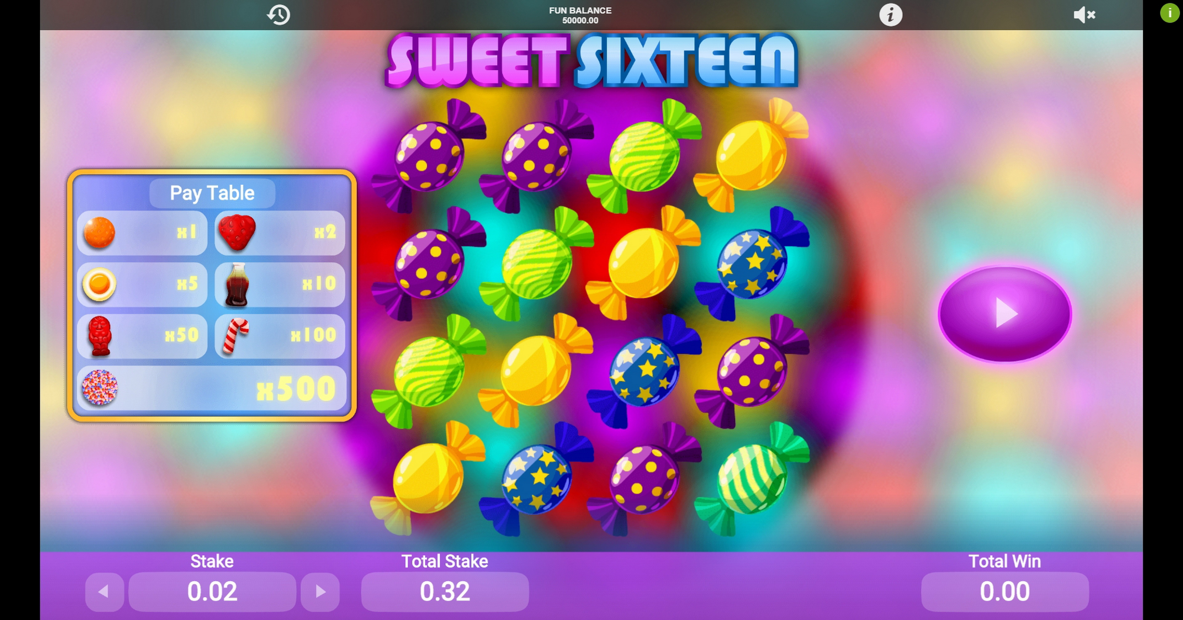 Reels in Sweet Sixteen	 Slot Game by 1x2 Gaming