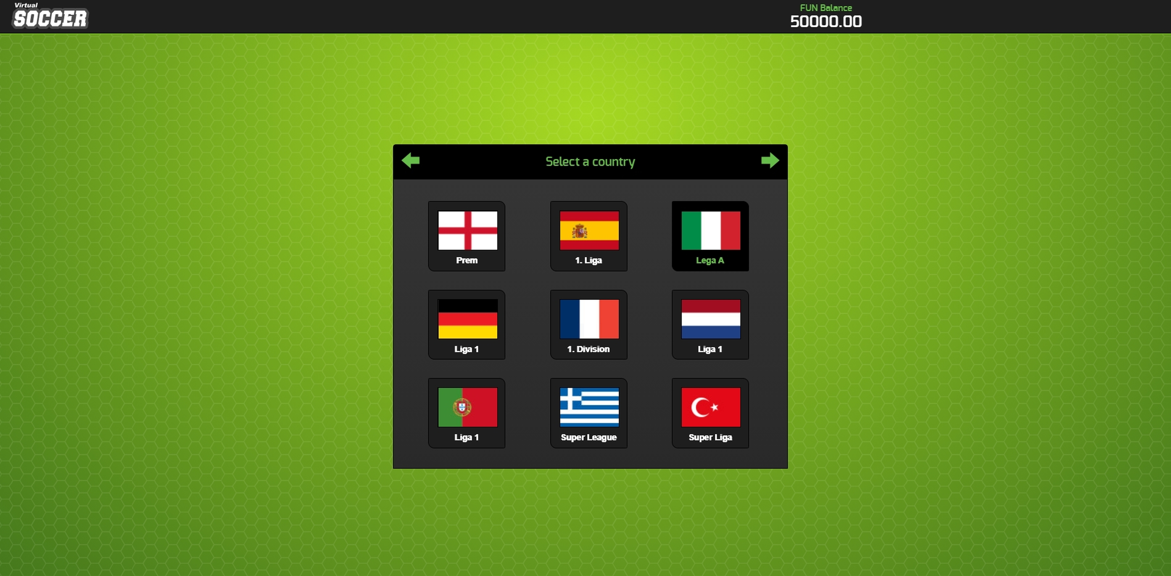 Play Virtual Soccer Free Casino Slot Game by 1x2 Gaming