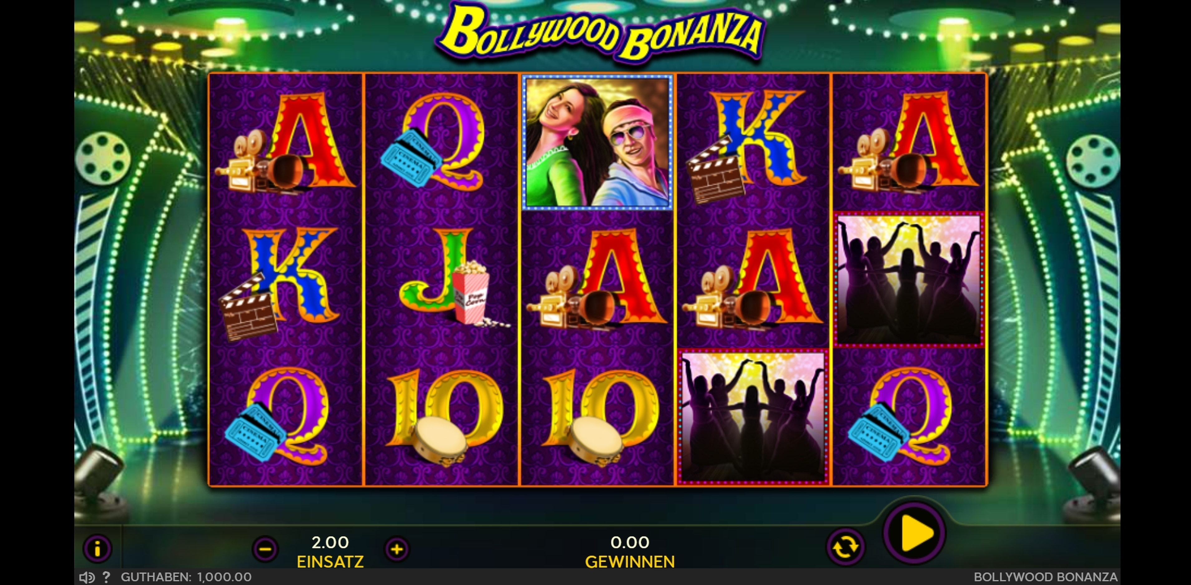 Reels in Bollywood Bonanza Slot Game by 888 Gaming