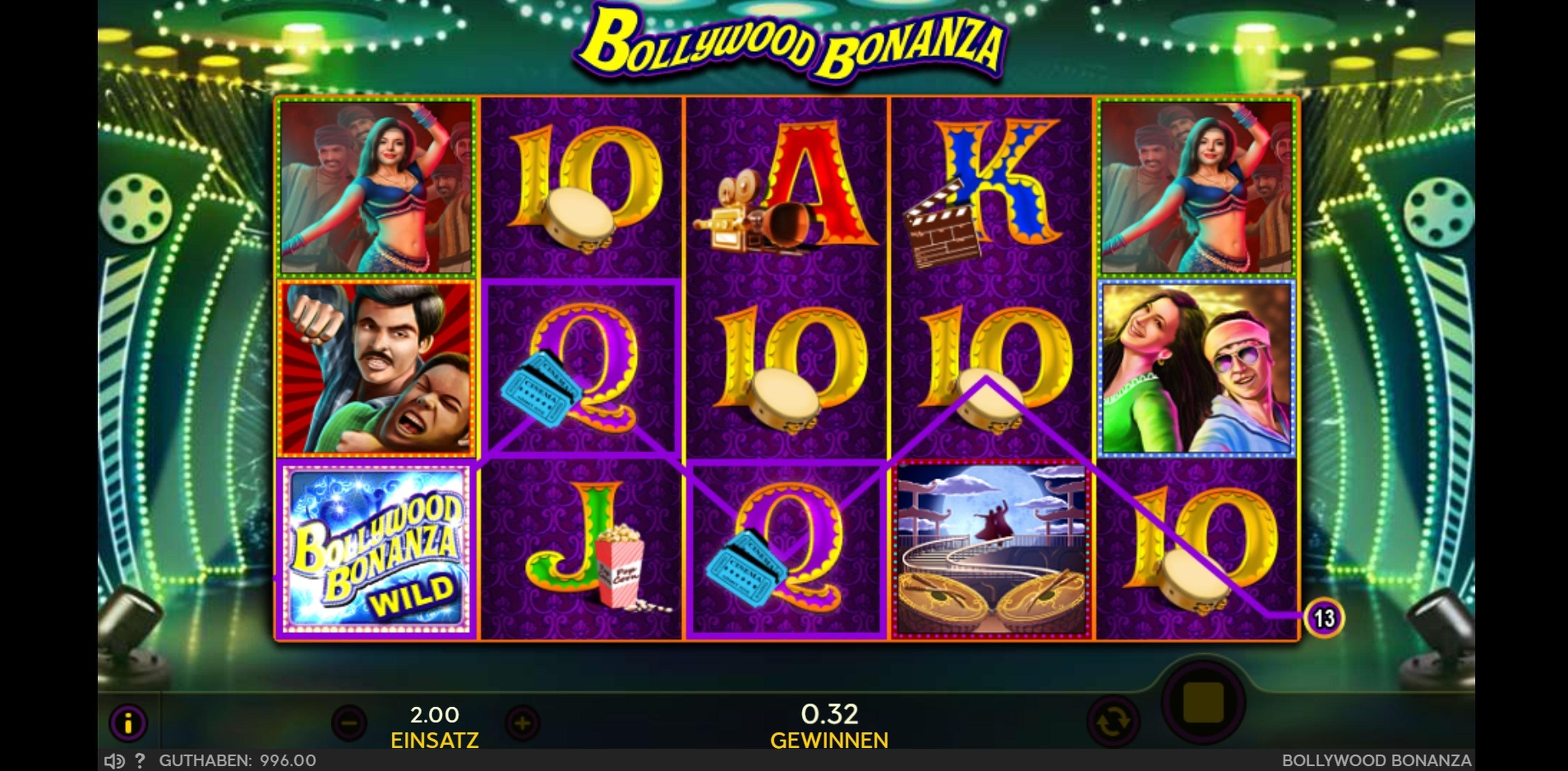 Win Money in Bollywood Bonanza Free Slot Game by 888 Gaming
