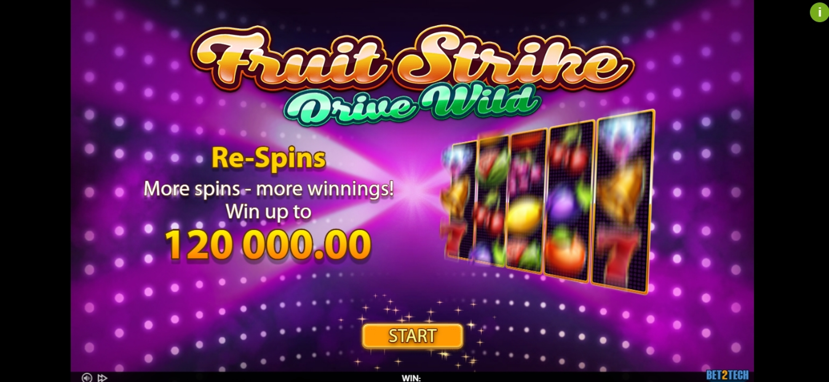 Play Fruit Strike: Drive Wild Free Casino Slot Game by Bet2Tech