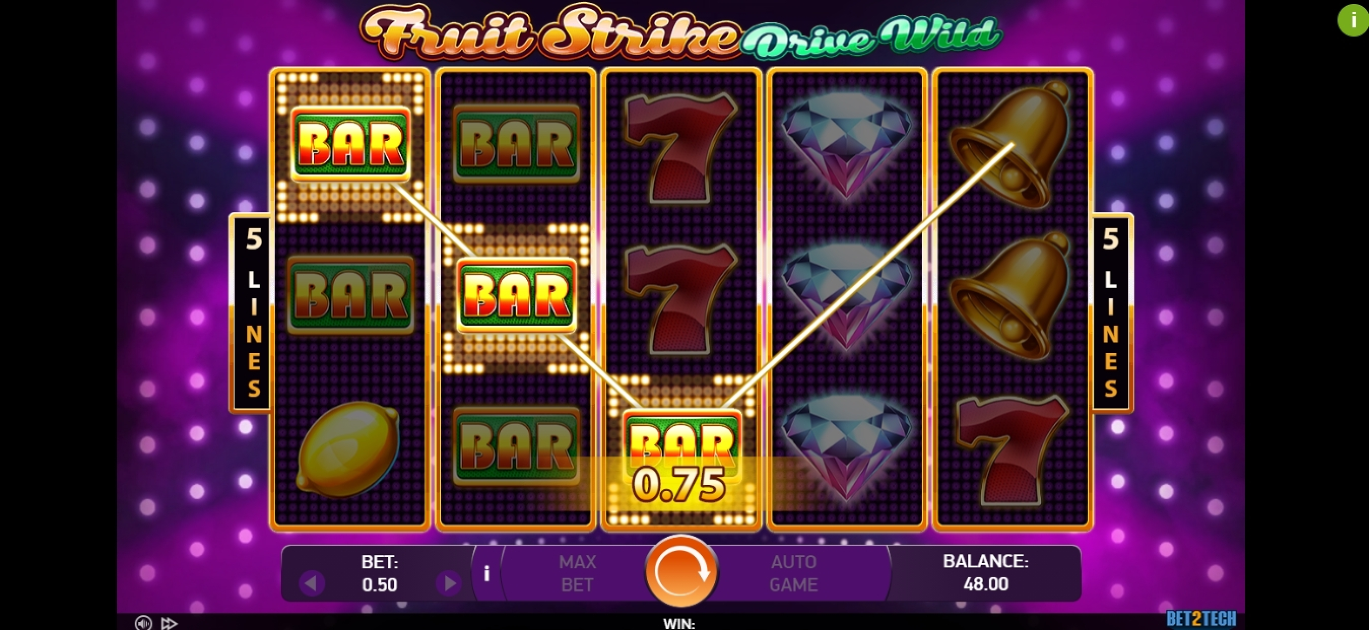 Win Money in Fruit Strike: Drive Wild Free Slot Game by Bet2Tech
