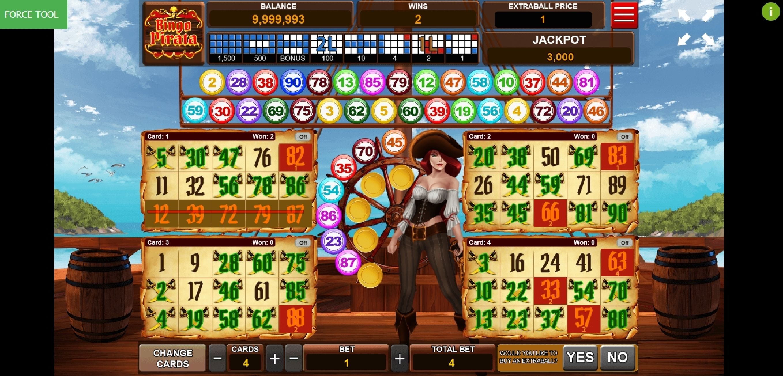 Win Money in Bingo Pirata Free Slot Game by Caleta Gaming