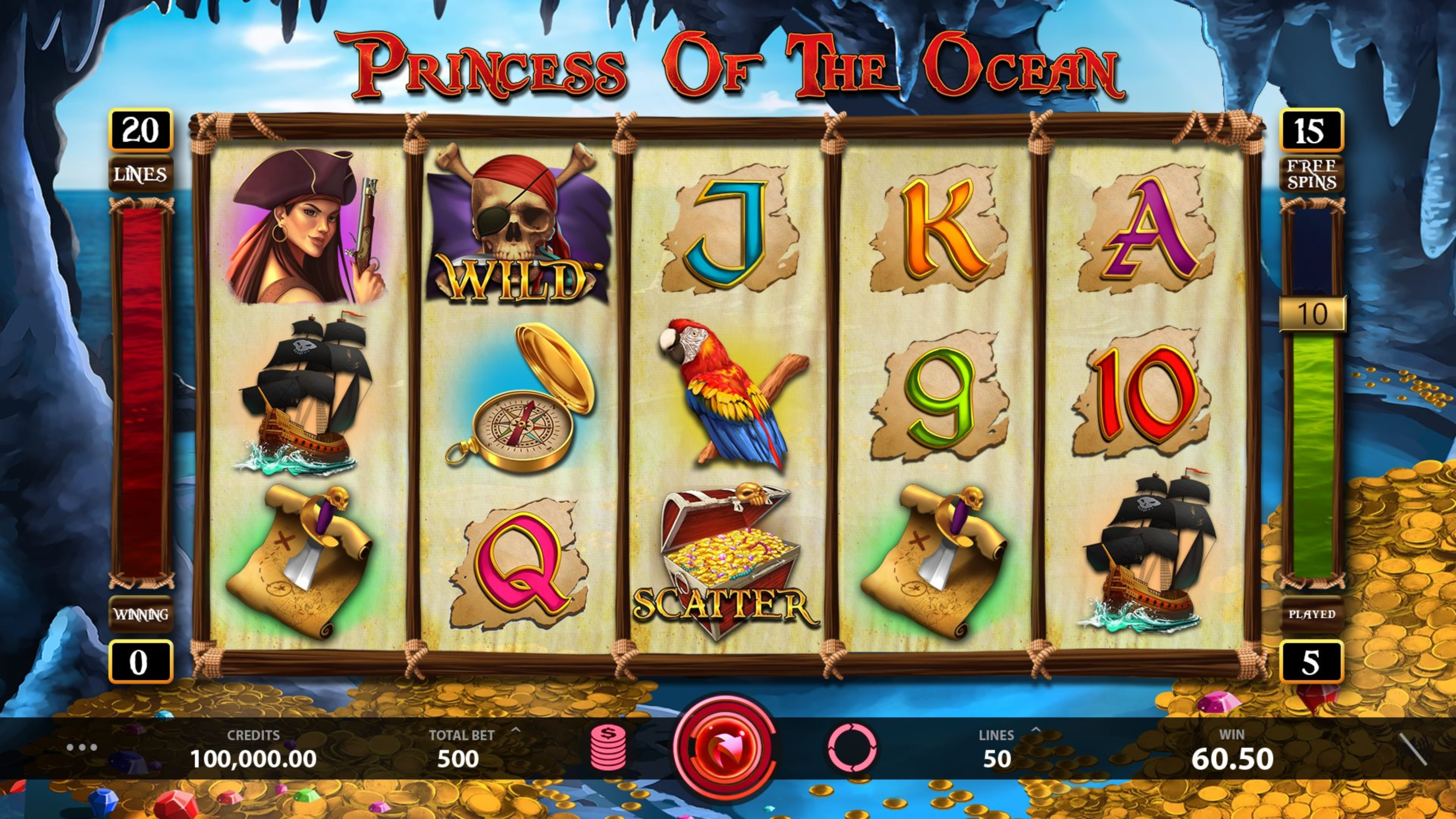 The Princess of the Ocean Online Slot Demo Game by Caleta Gaming