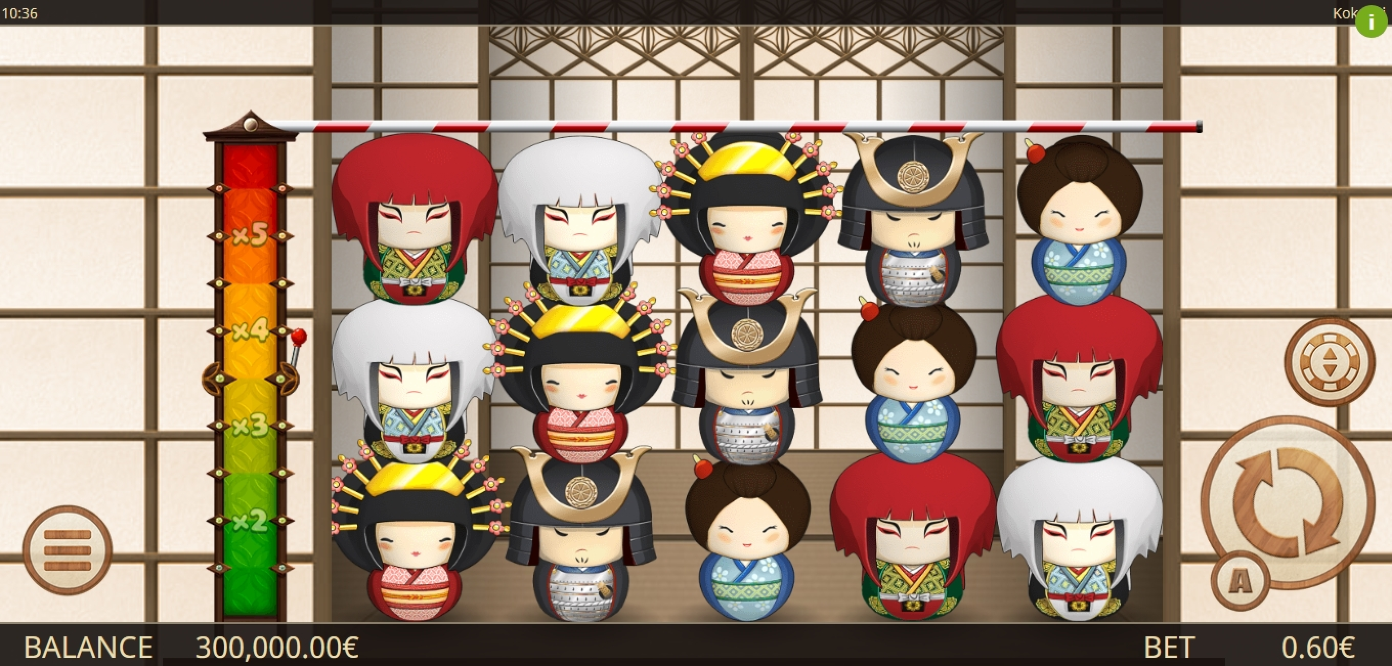 Reels in Kokeshi Slot Game by Gamatron