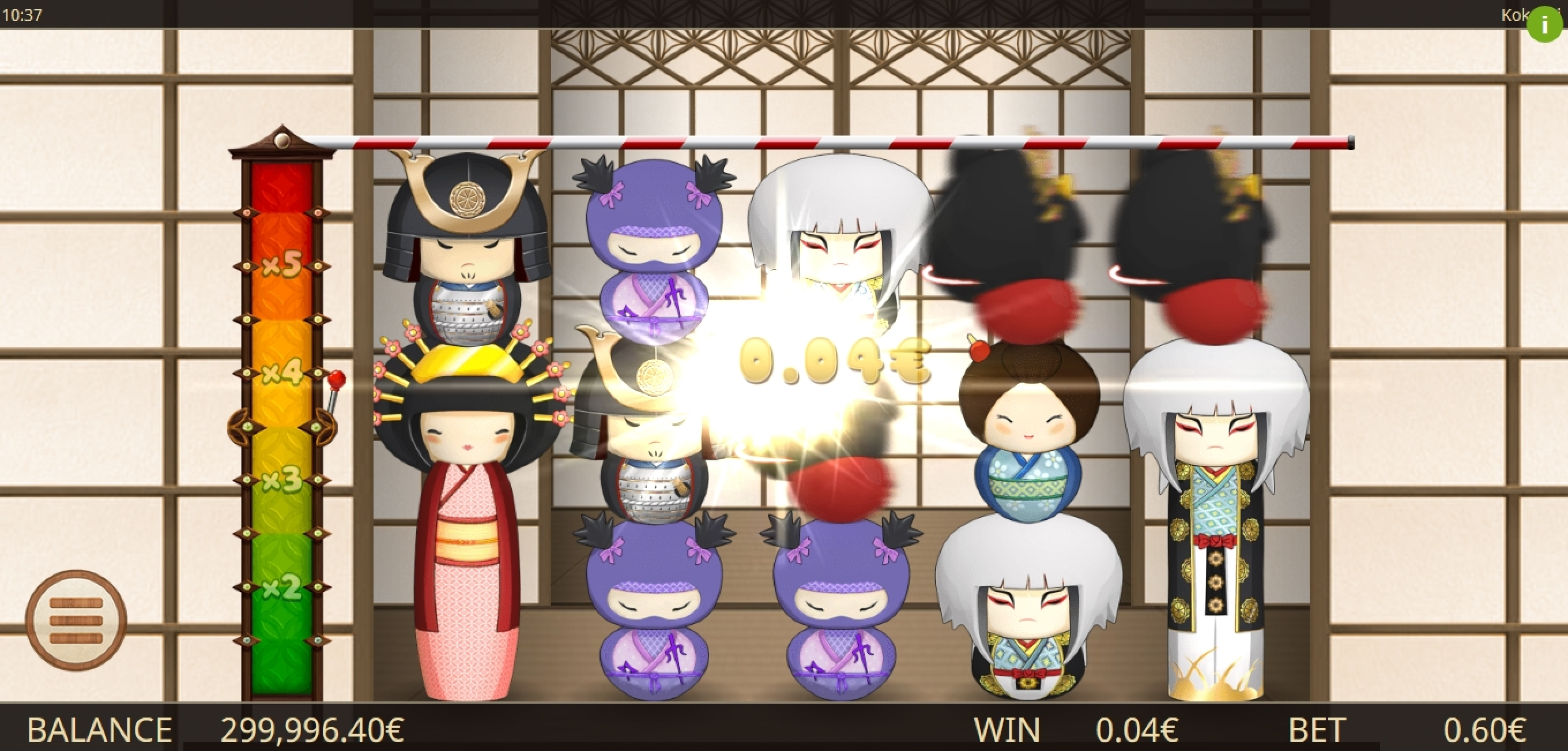 Win Money in Kokeshi Free Slot Game by Gamatron