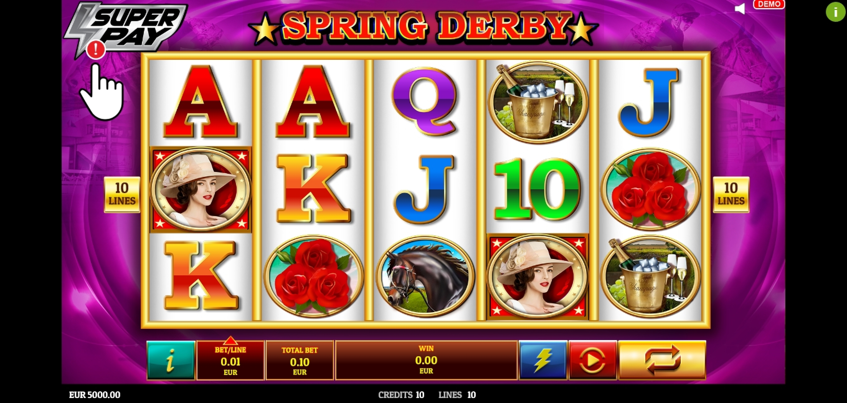 Reels in Spring Derby Slot Game by Givme Games
