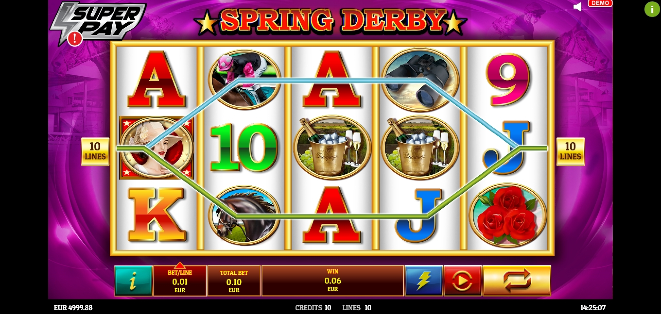 Win Money in Spring Derby Free Slot Game by Givme Games