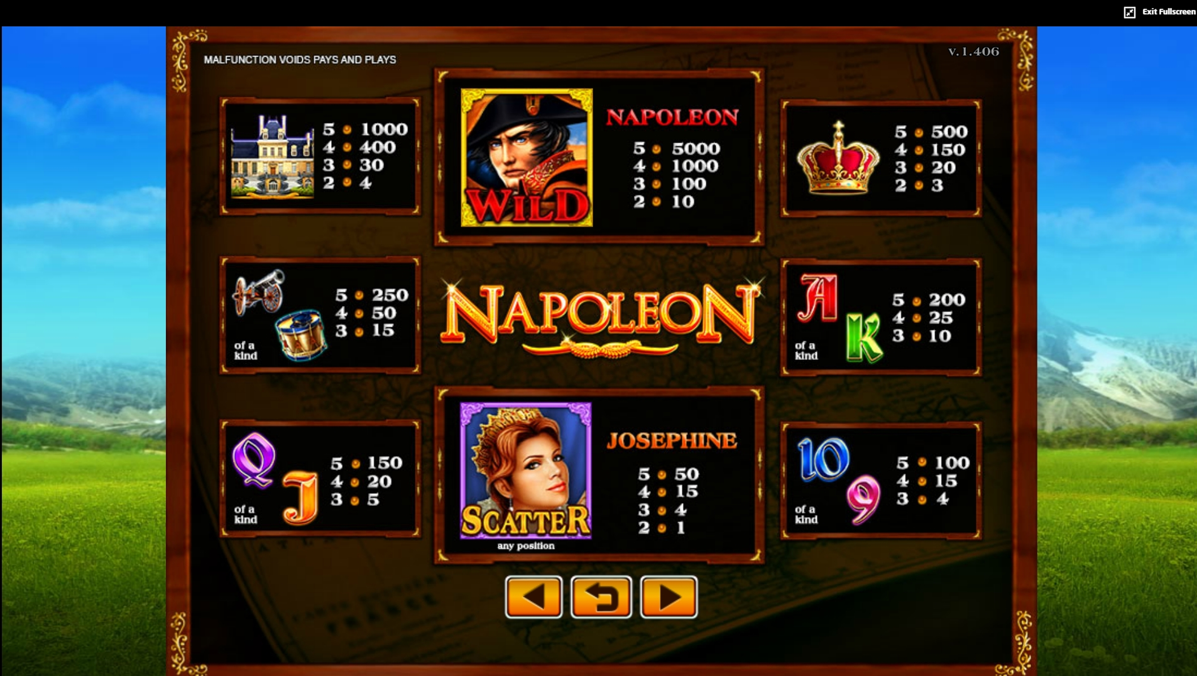 Info of Napoleon (JDB168) Slot Game by JDB168