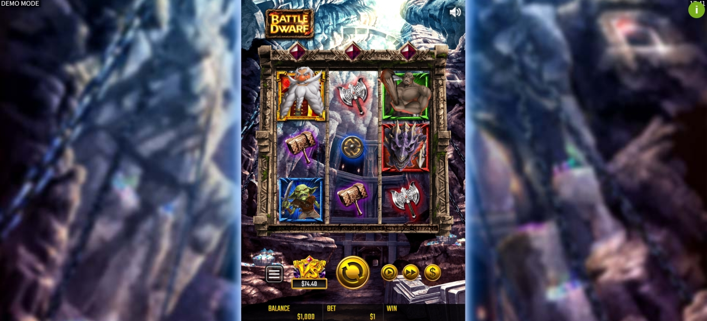 Reels in Battle Dwarf Slot Game by JTG