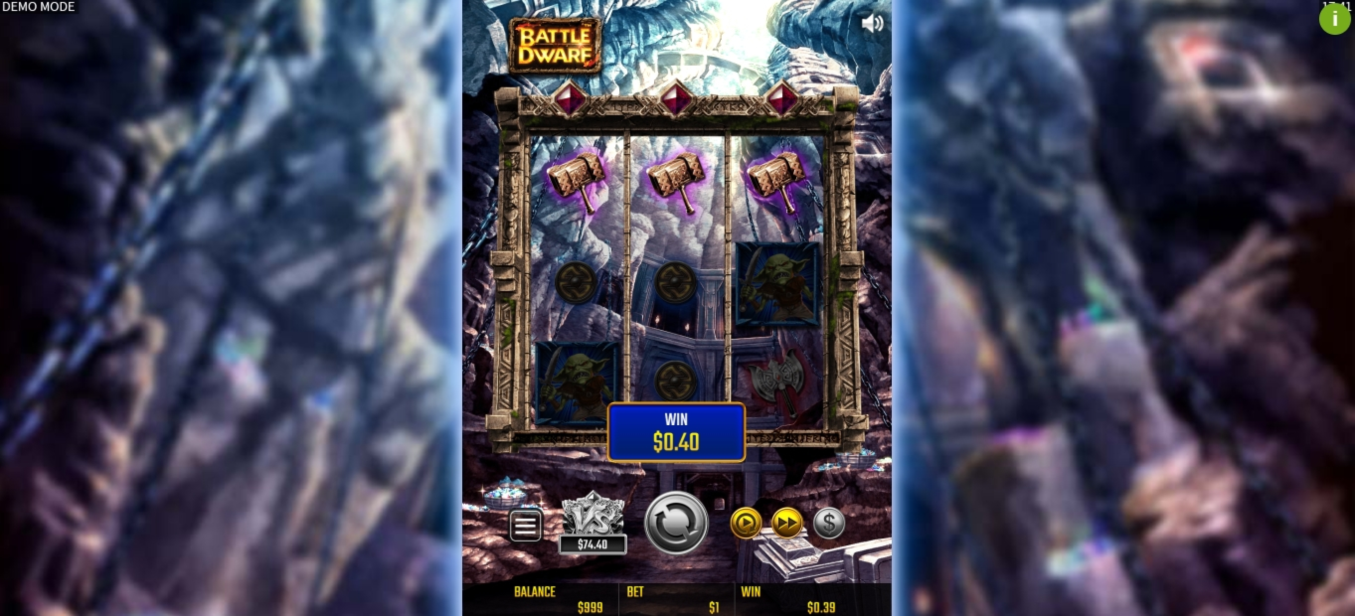 Win Money in Battle Dwarf Free Slot Game by JTG