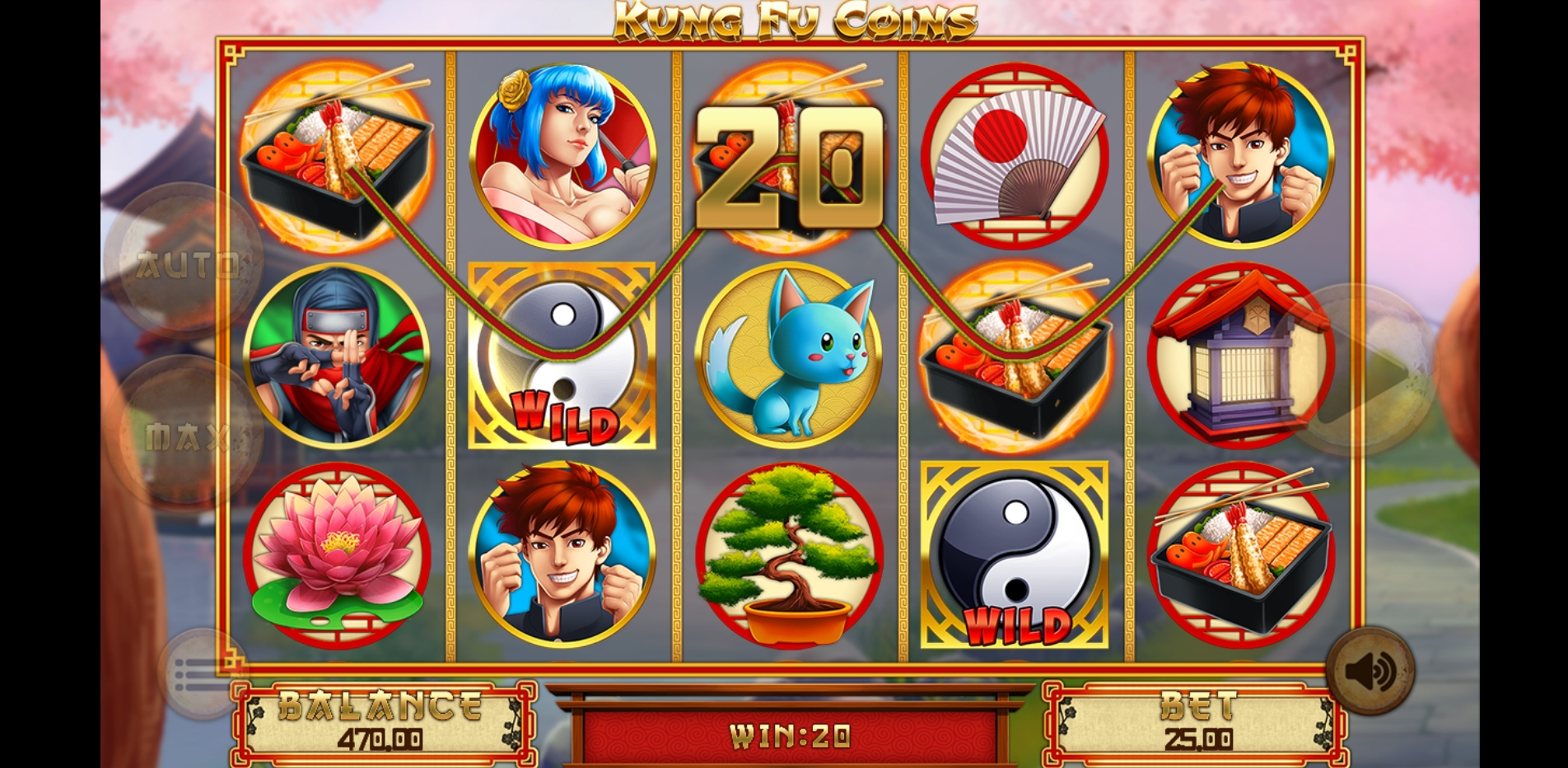 Win Money in Kung Fu Coins Free Slot Game by Magma