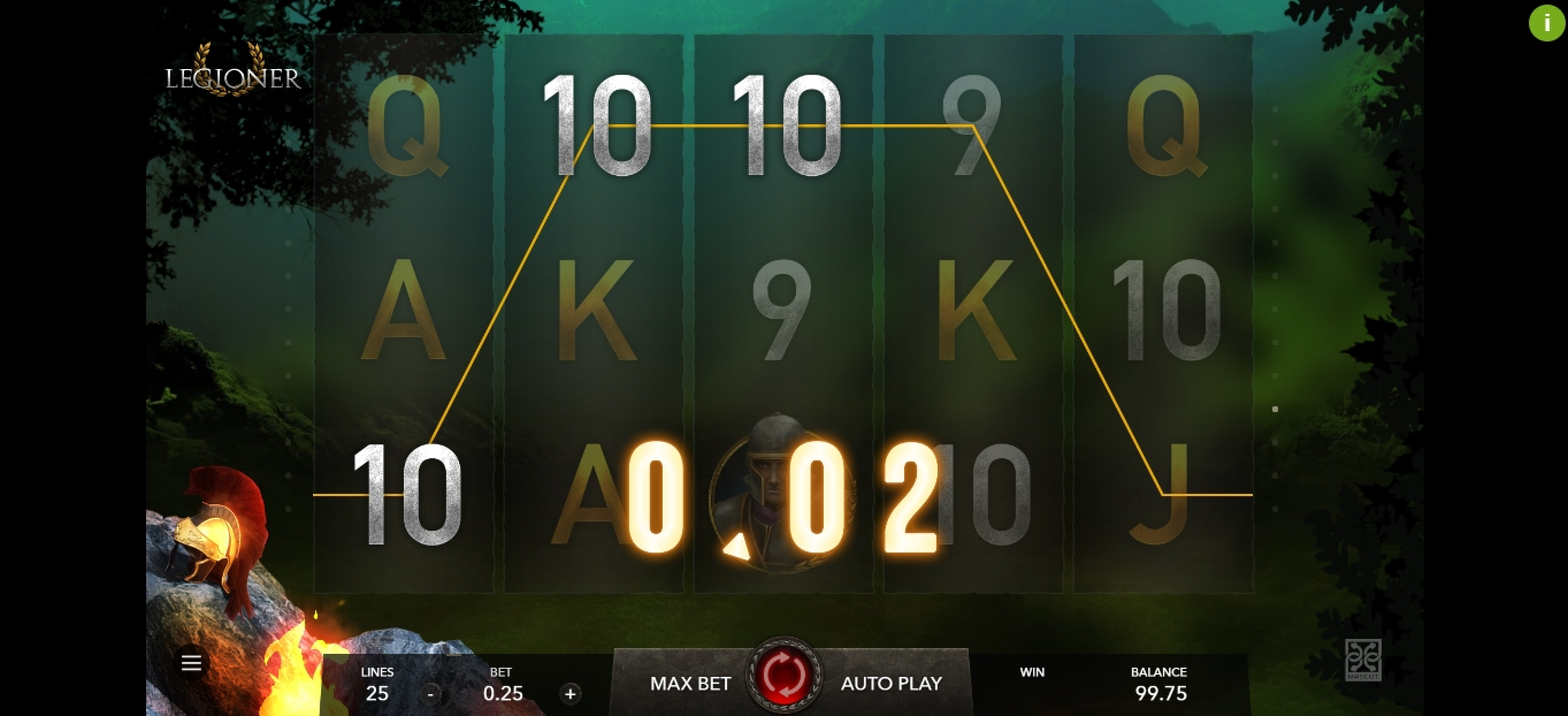Win Money in Legioner Free Slot Game by Mascot Gaming