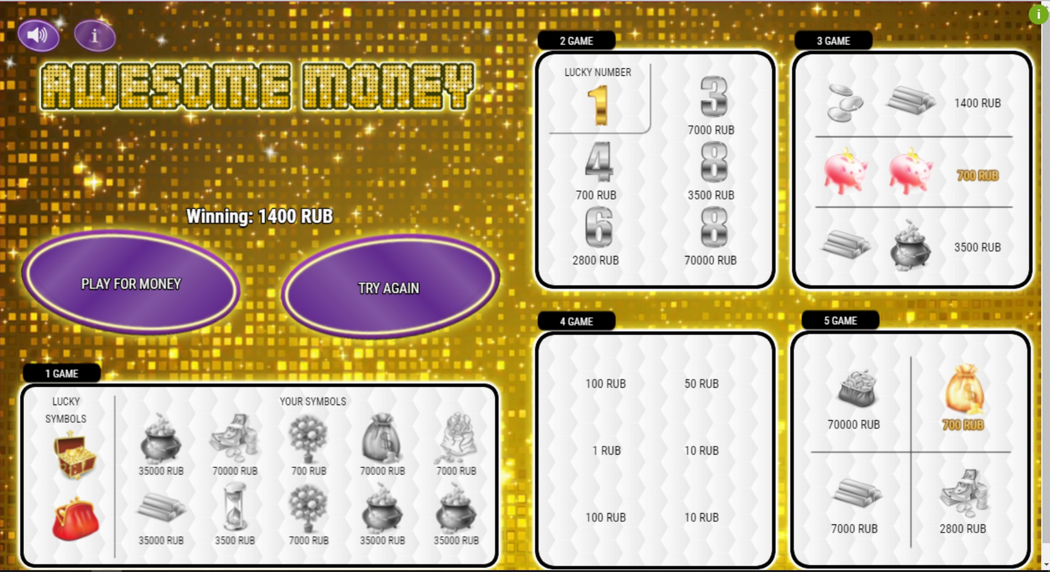 Win Money in Awesome money Free Slot Game by Others