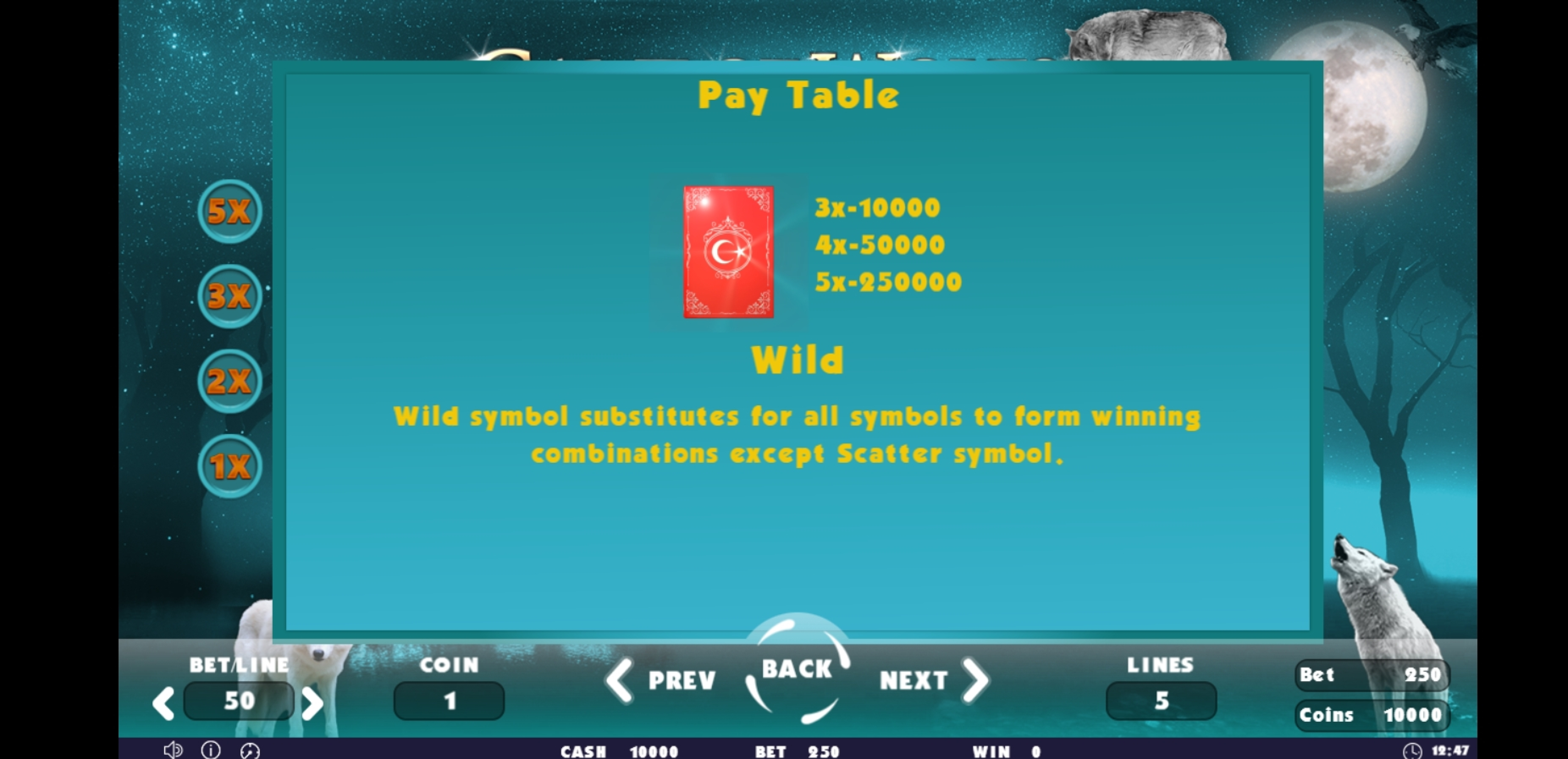 Info of Game of Wolfs Slot Game by Others