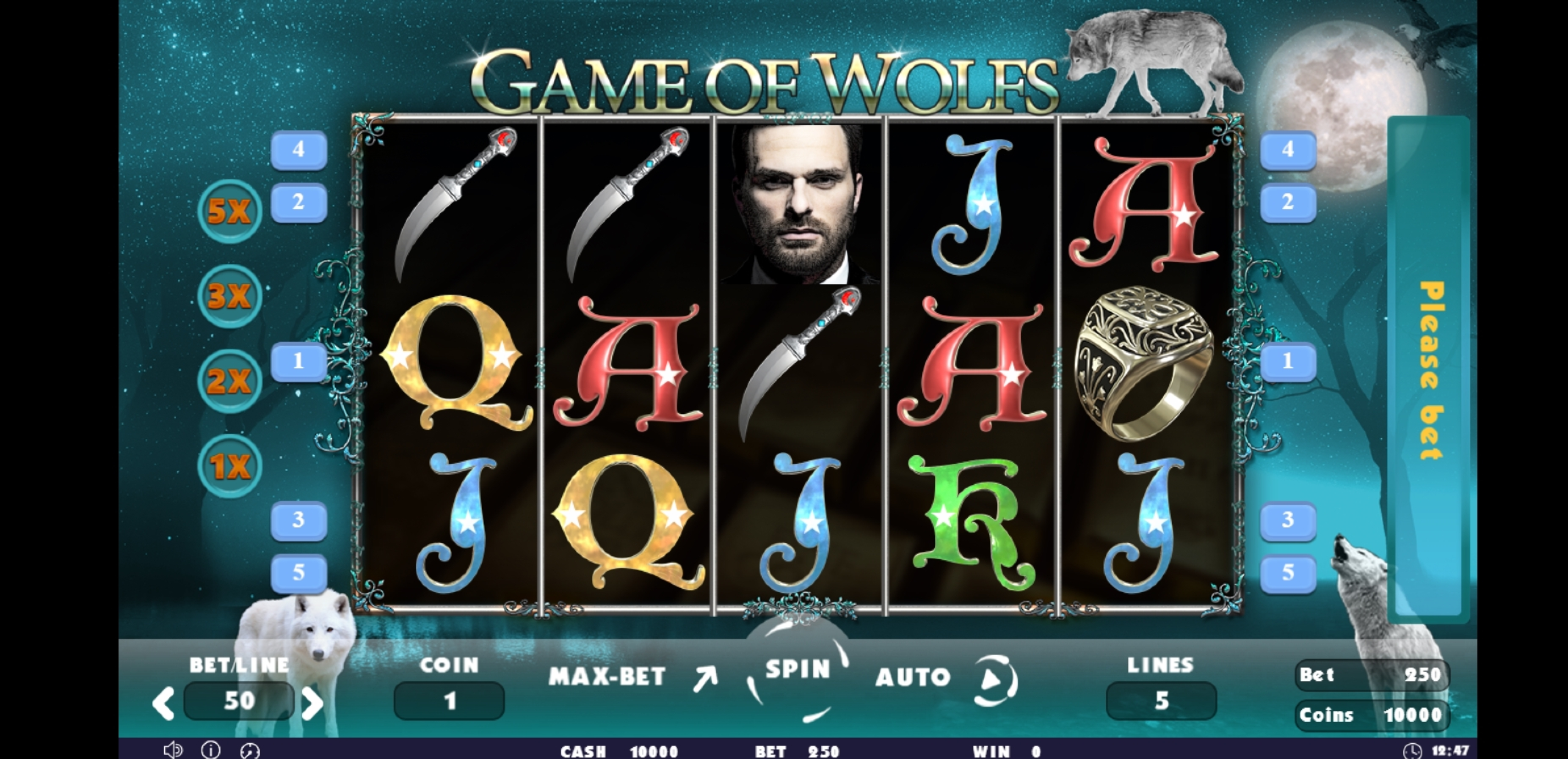 Reels in Game of Wolfs Slot Game by Others