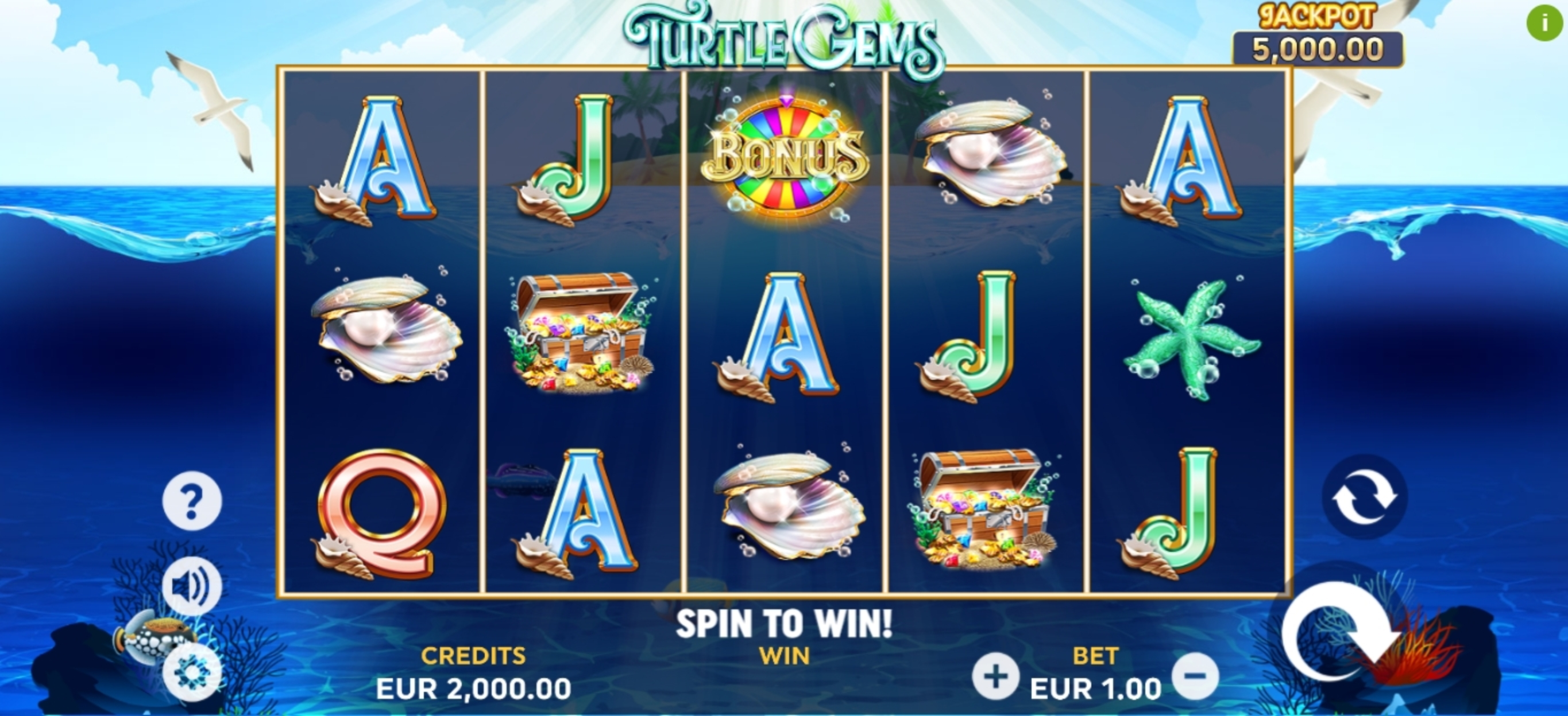 Reels in Turtle Gems Slot Game by Playlogics