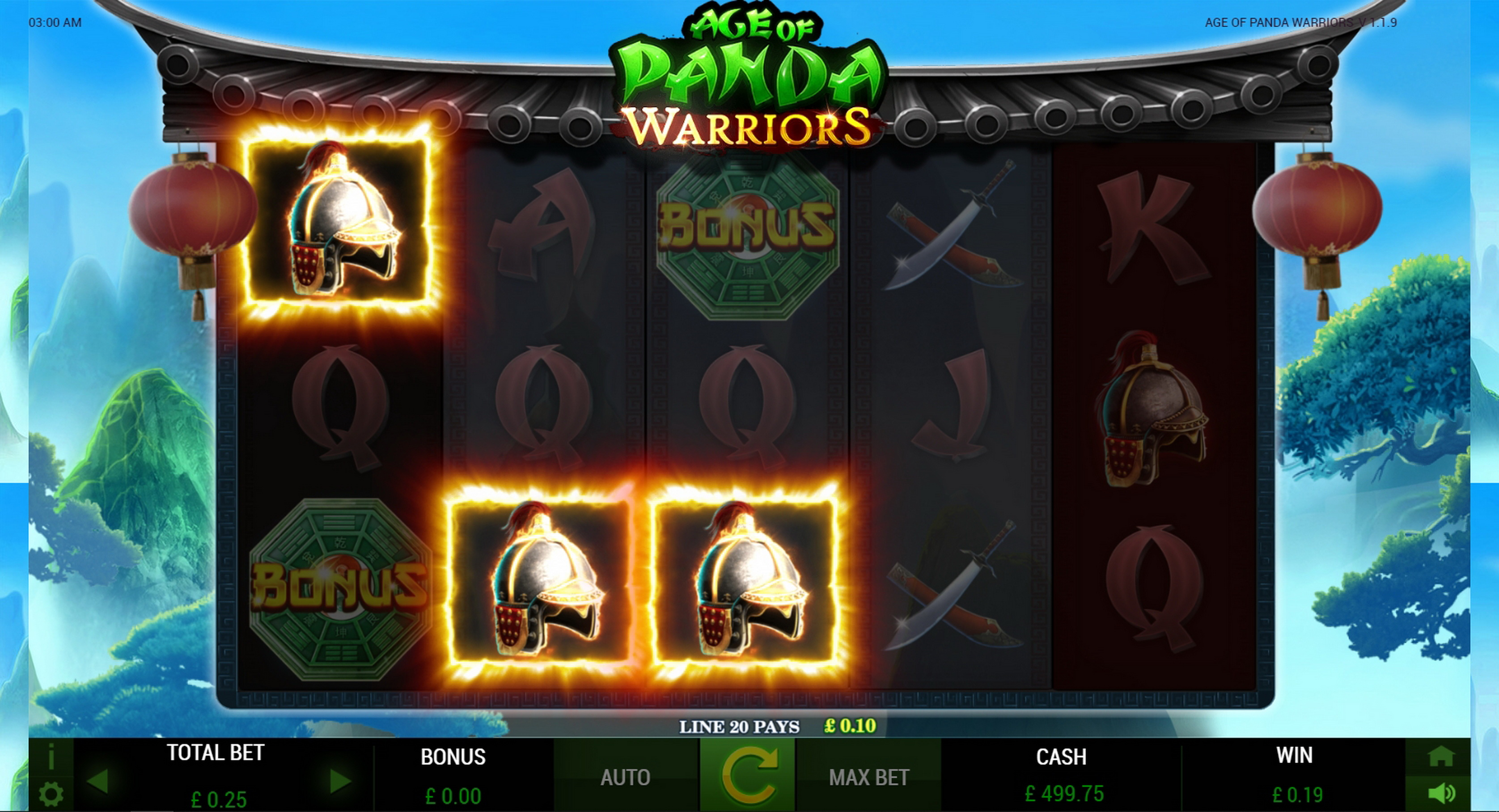 Win Money in Age of Panda Warriors Free Slot Game by ReelFeel Gaming