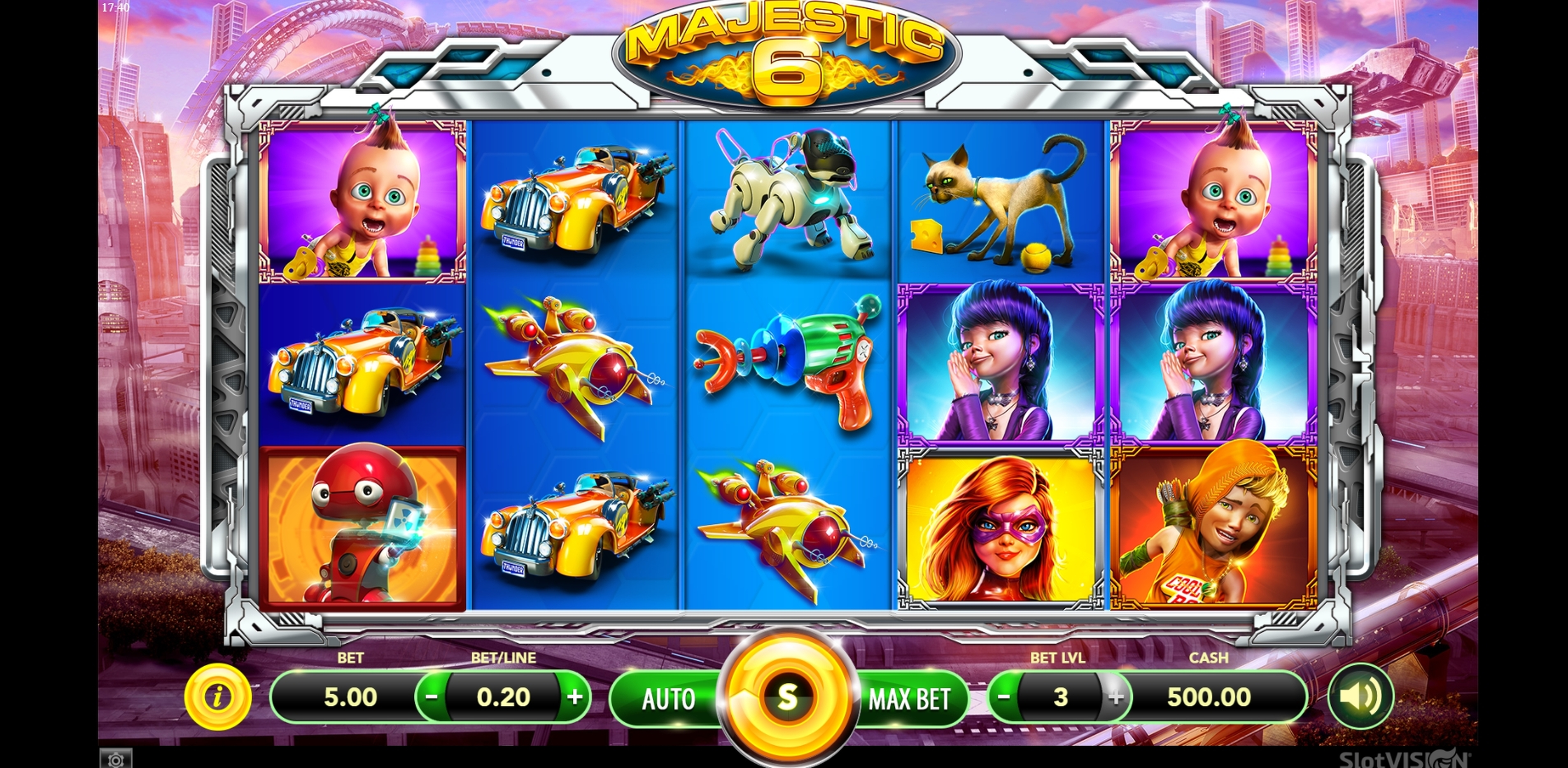 Reels in Majestic 6 Slot Game by SlotVision