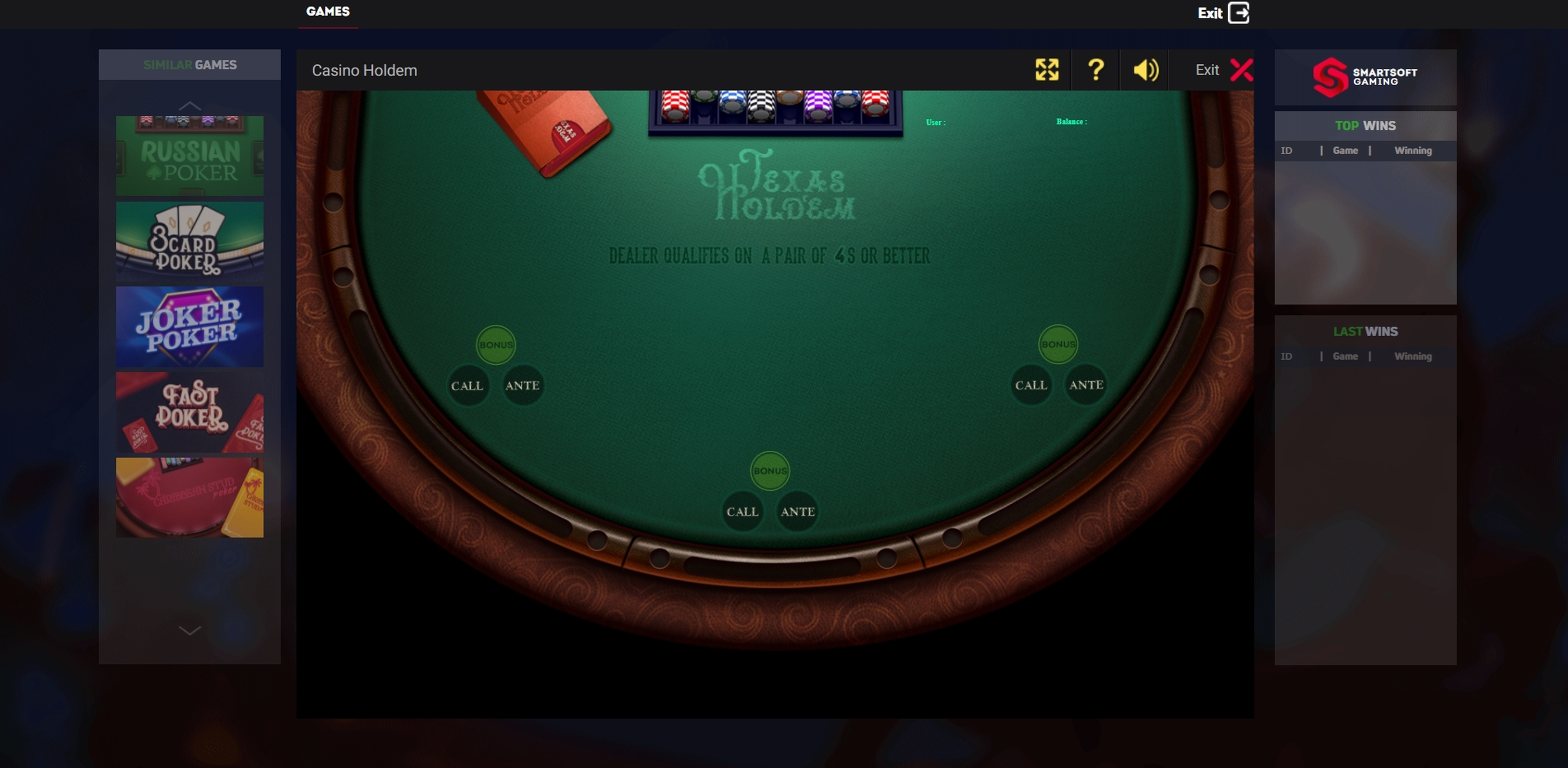 Reels in Texas Holdem (Smartsoft Gaming) Slot Game by Smartsoft Gaming