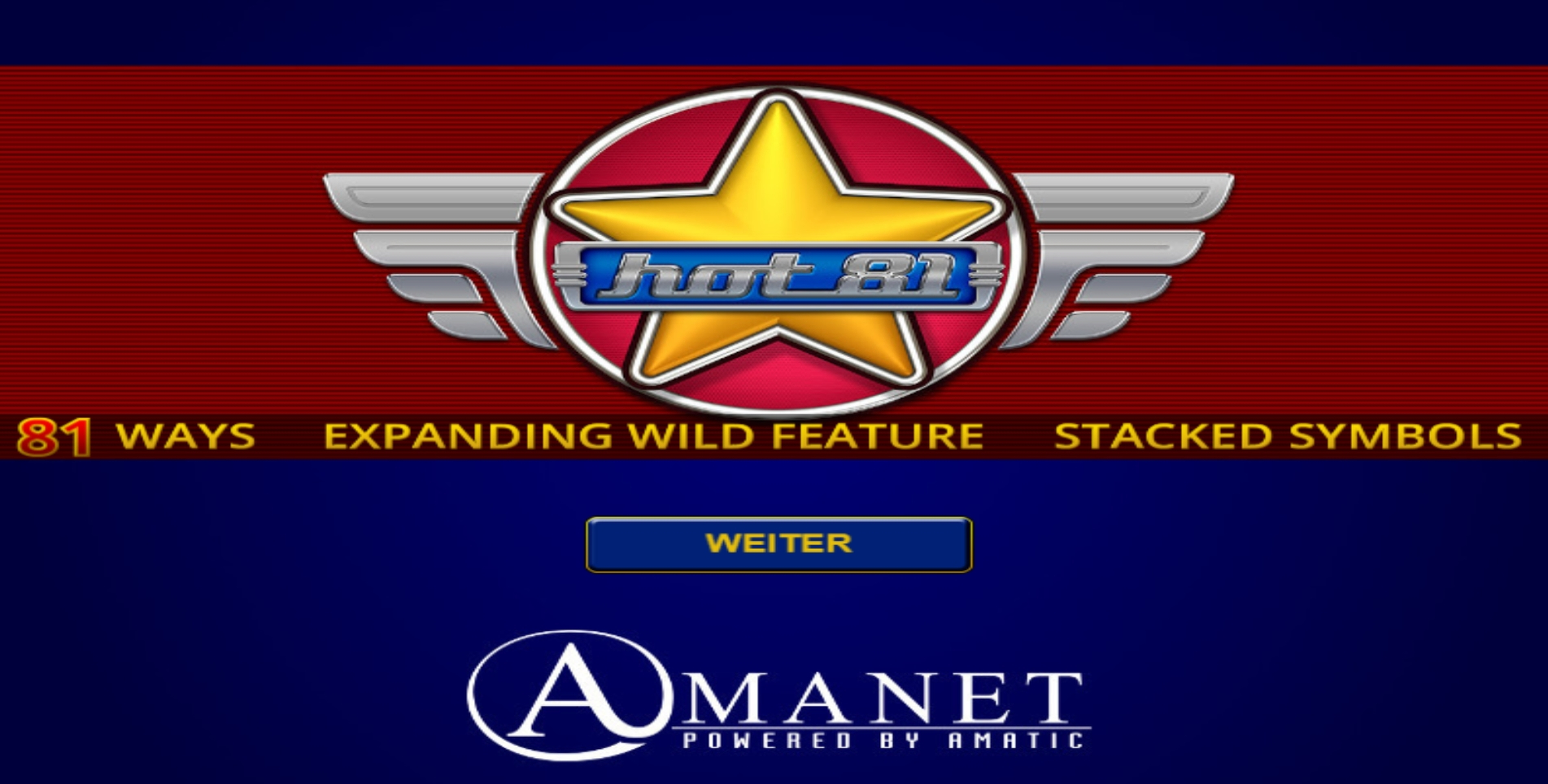 Play Hot 81 Free Casino Slot Game by Amatic Industries
