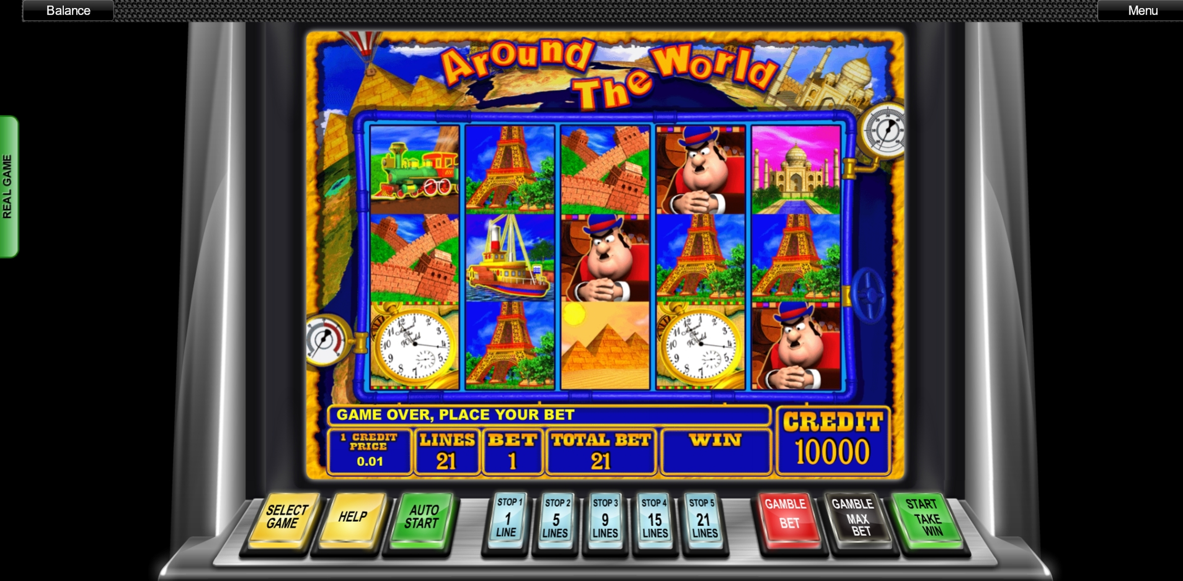 Reels in Around the World (Ash Gaming) Slot Game by Ash Gaming