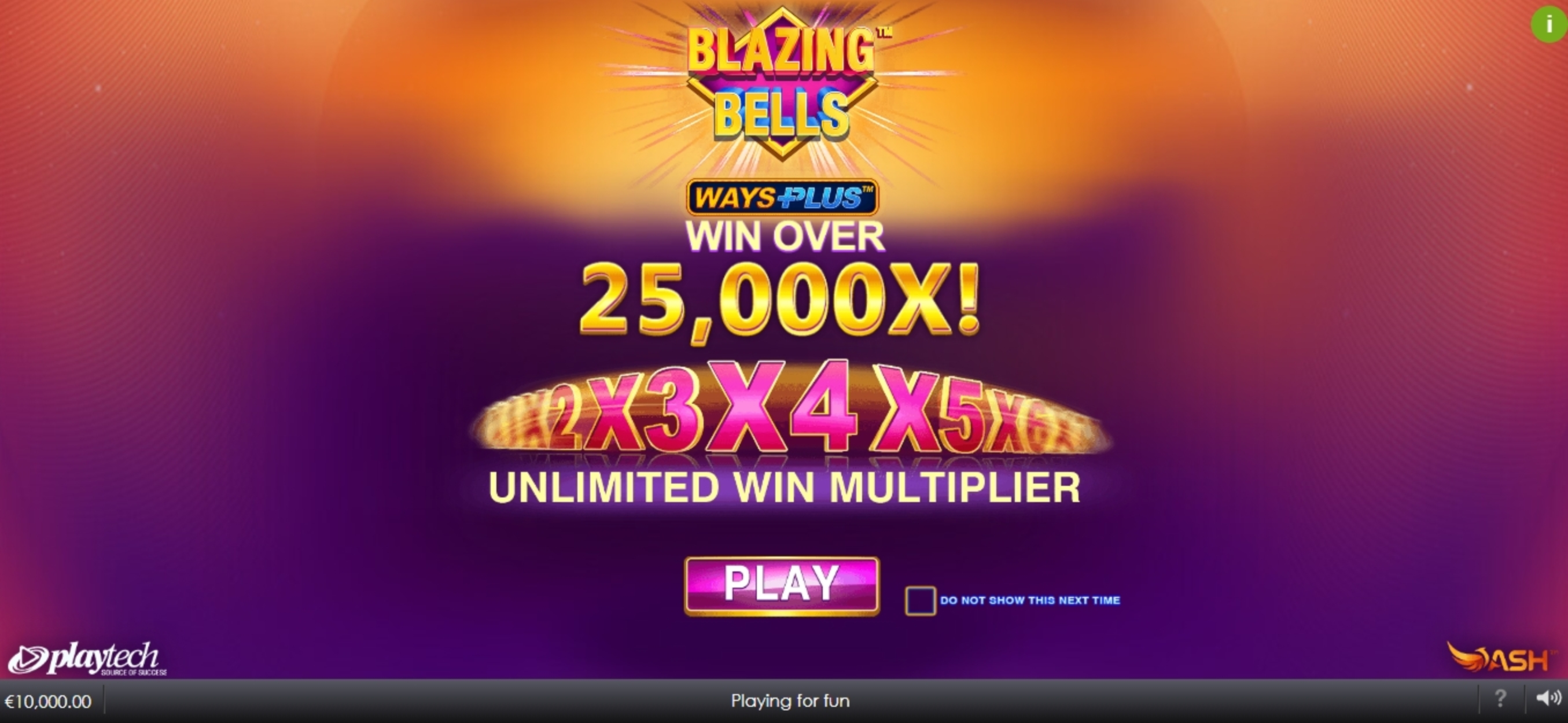 Play Blazing Bells Free Casino Slot Game by Ash Gaming