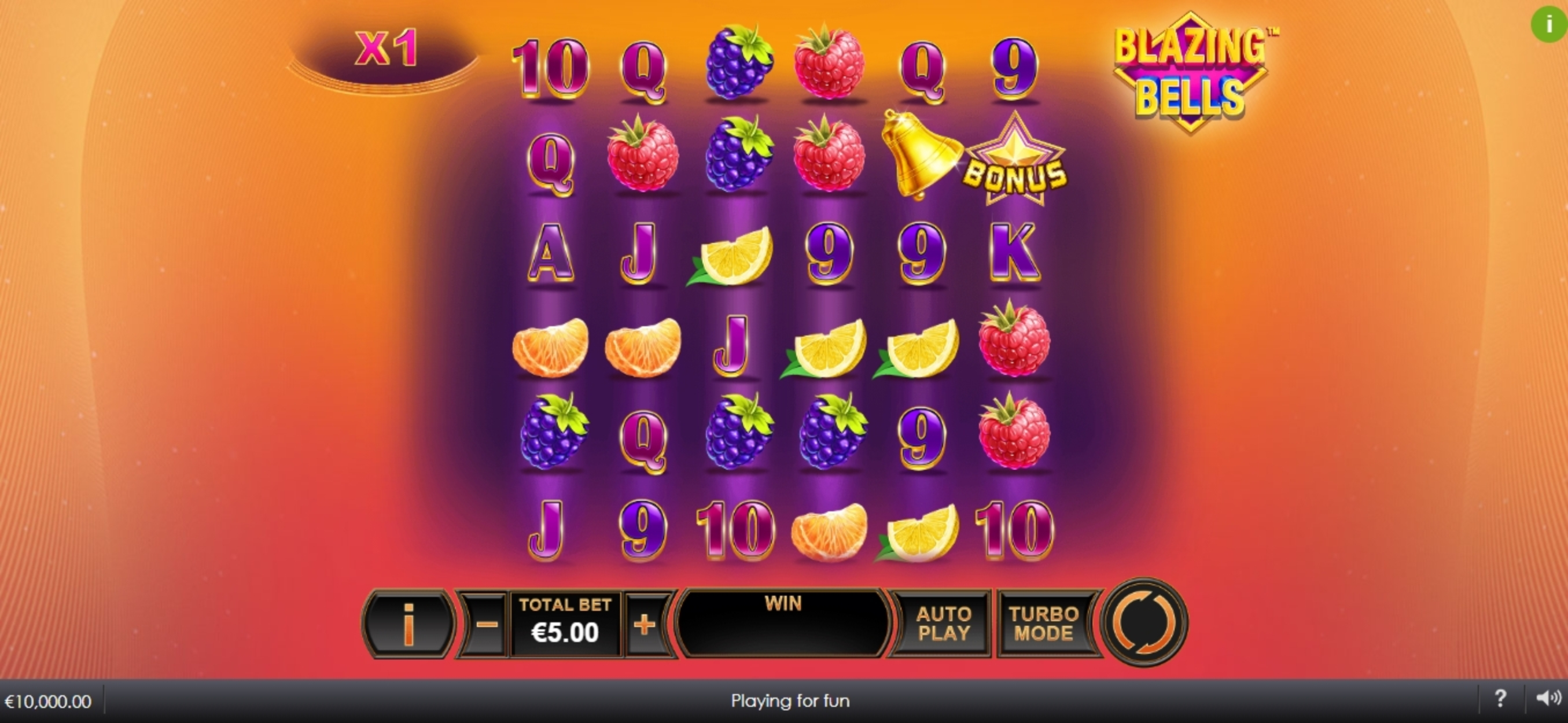 Reels in Blazing Bells Slot Game by Ash Gaming