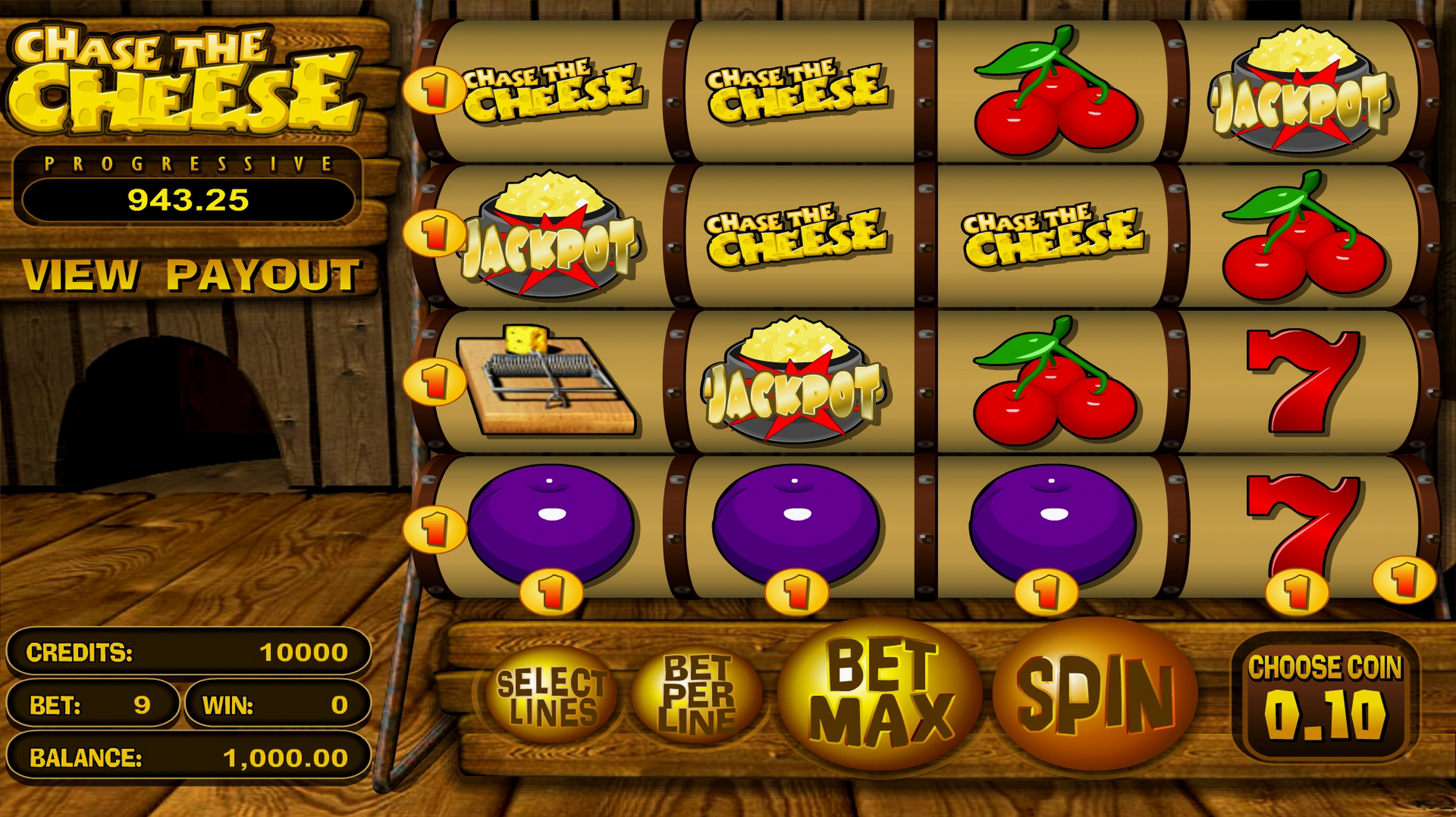 Reels in Chase the Cheese Slot Game by Betsoft