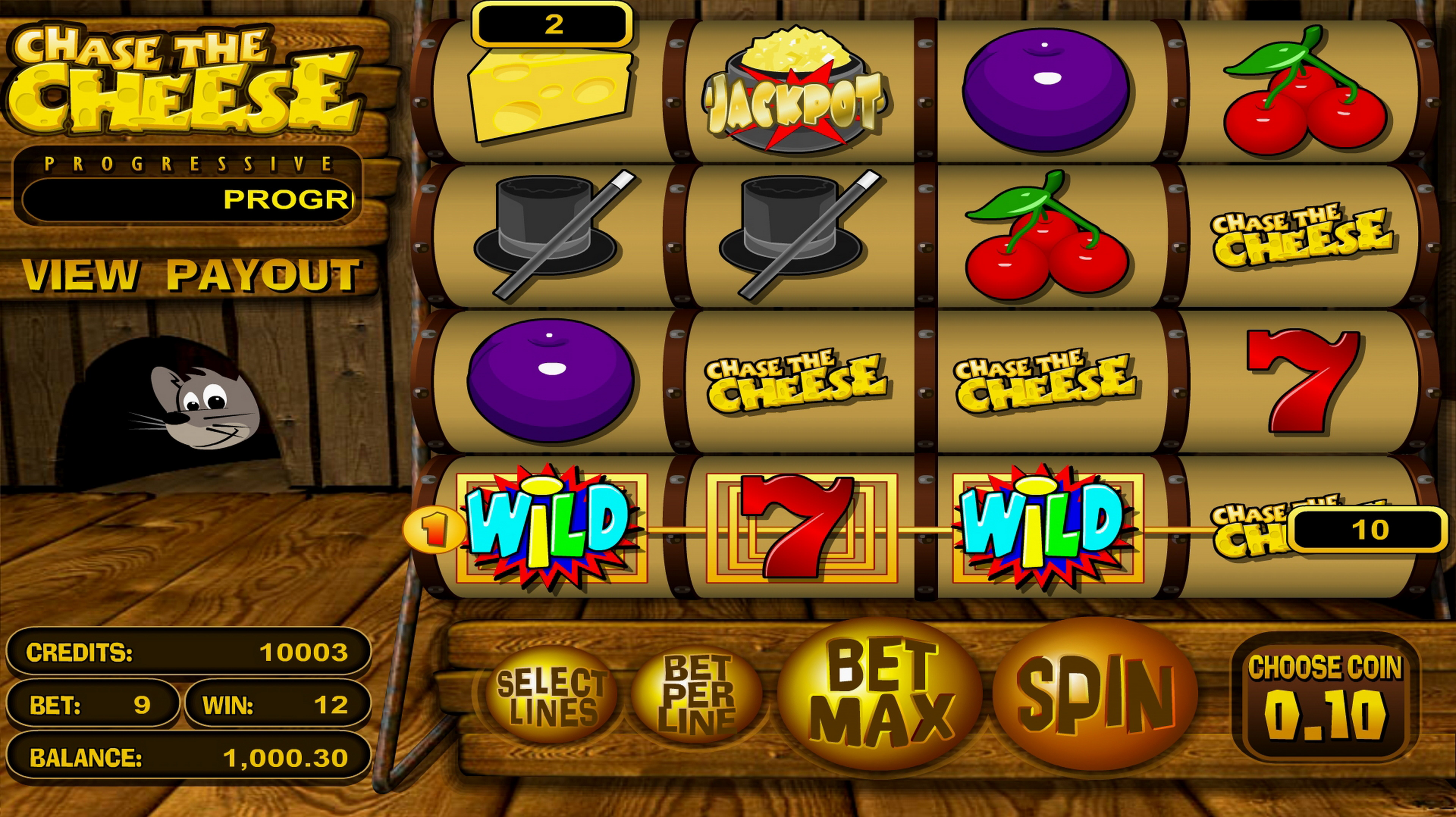 Win Money in Chase the Cheese Free Slot Game by Betsoft