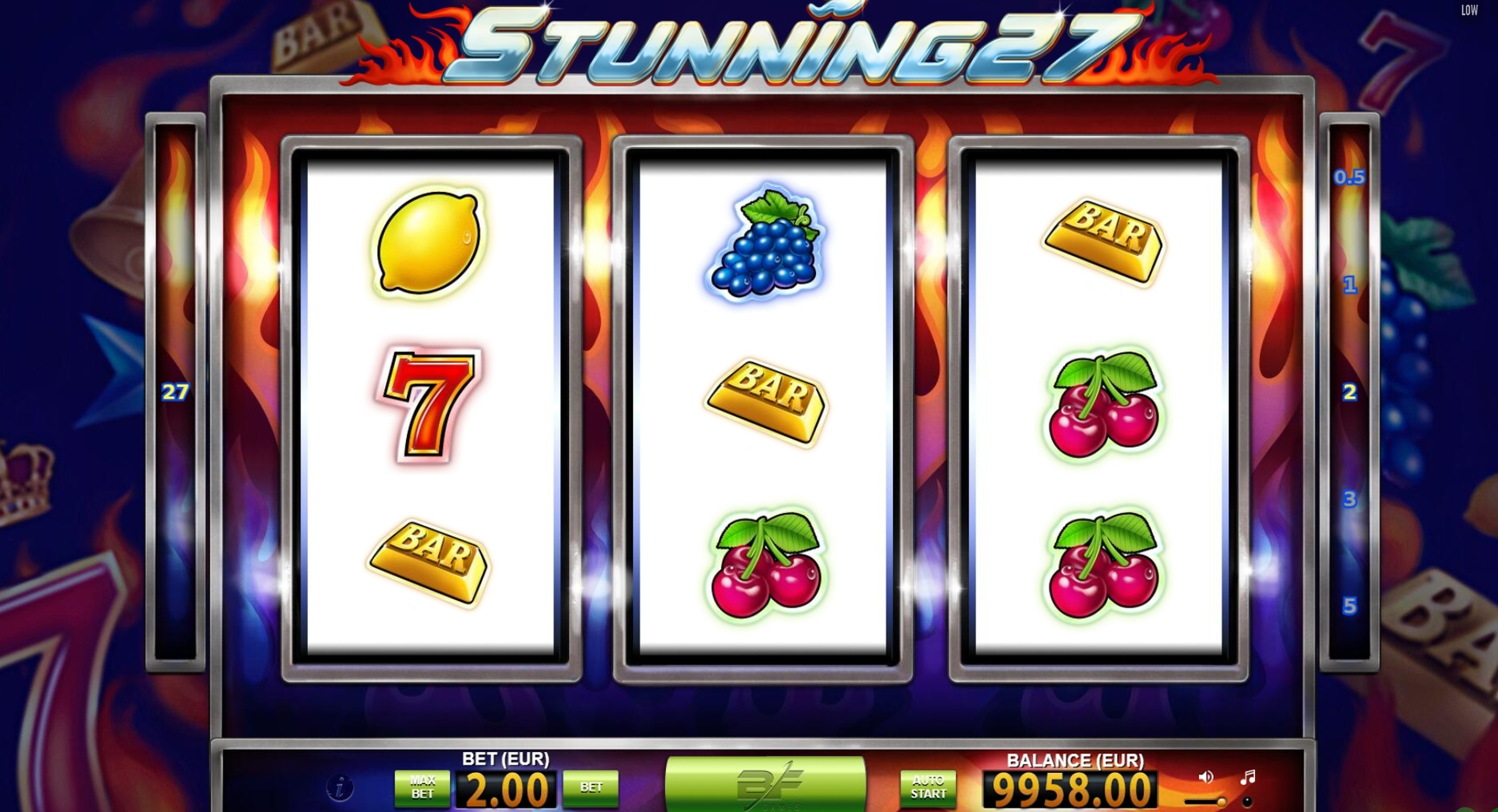 Win Money in Stunning 27 Free Slot Game by BF Games