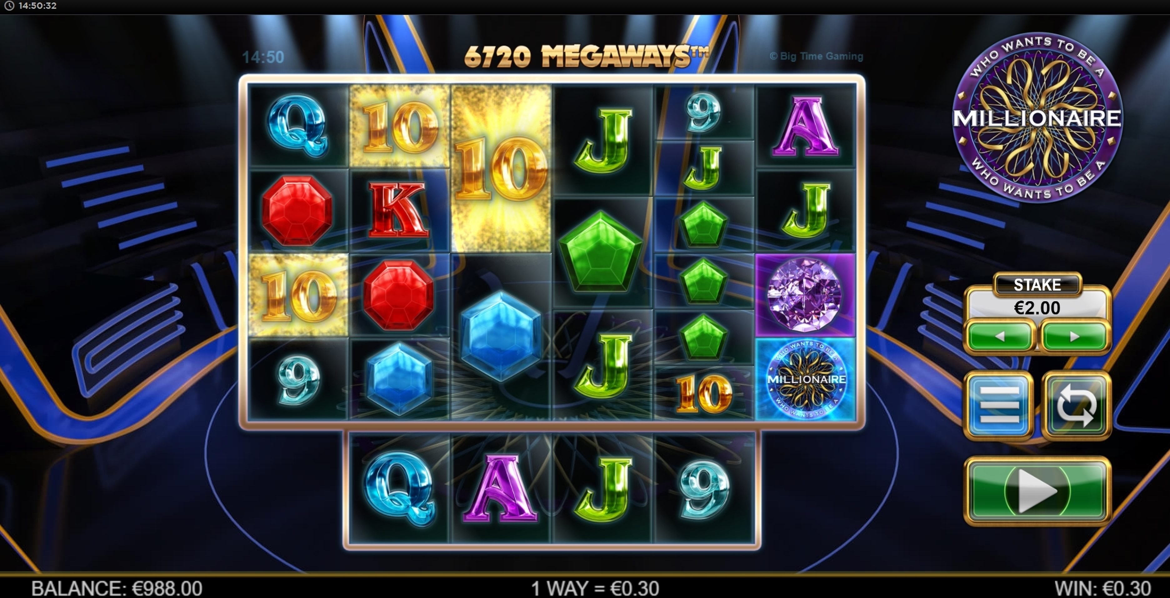 Win Money in Who Wants To Be A Millionaire Megaways Free Slot Game by Big Time Gaming