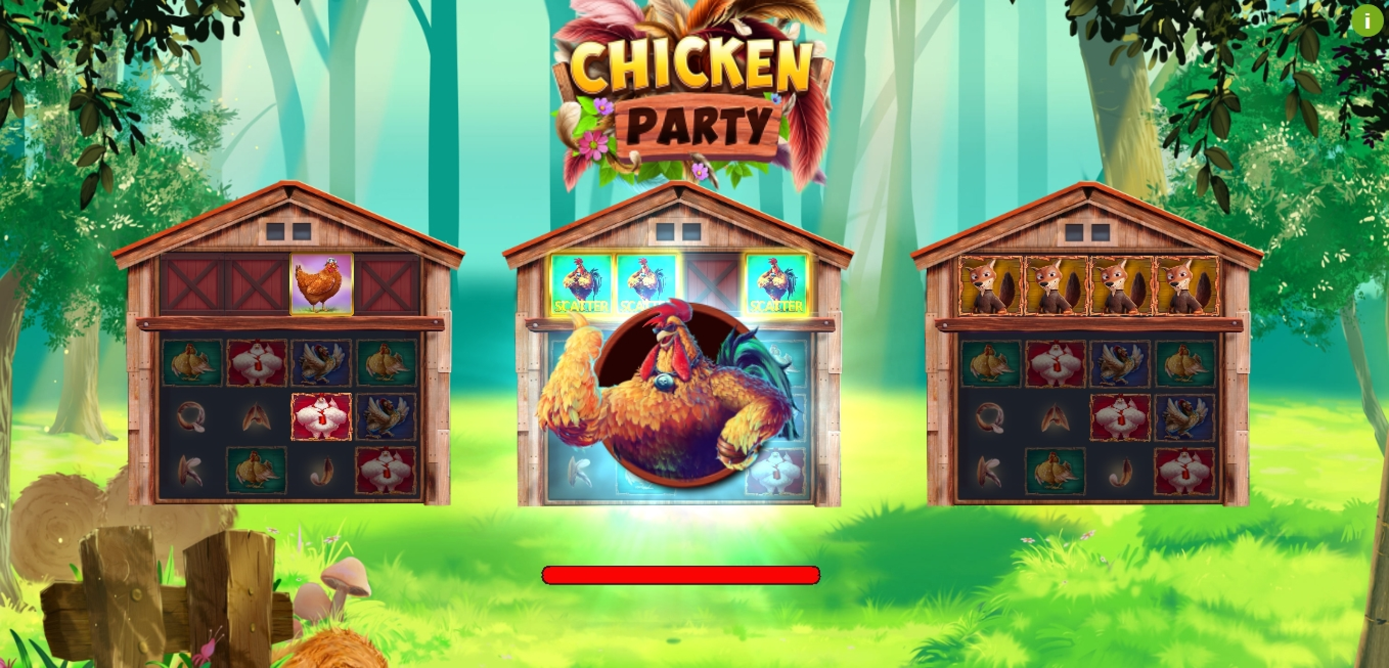 Win Money in Chicken Party Free Slot Game by Booming Games