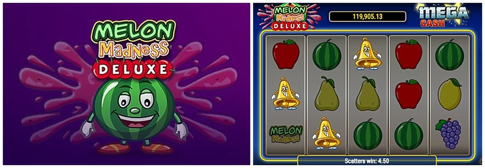 Win Money in Melon Madness Deluxe Free Slot Game by BwinParty