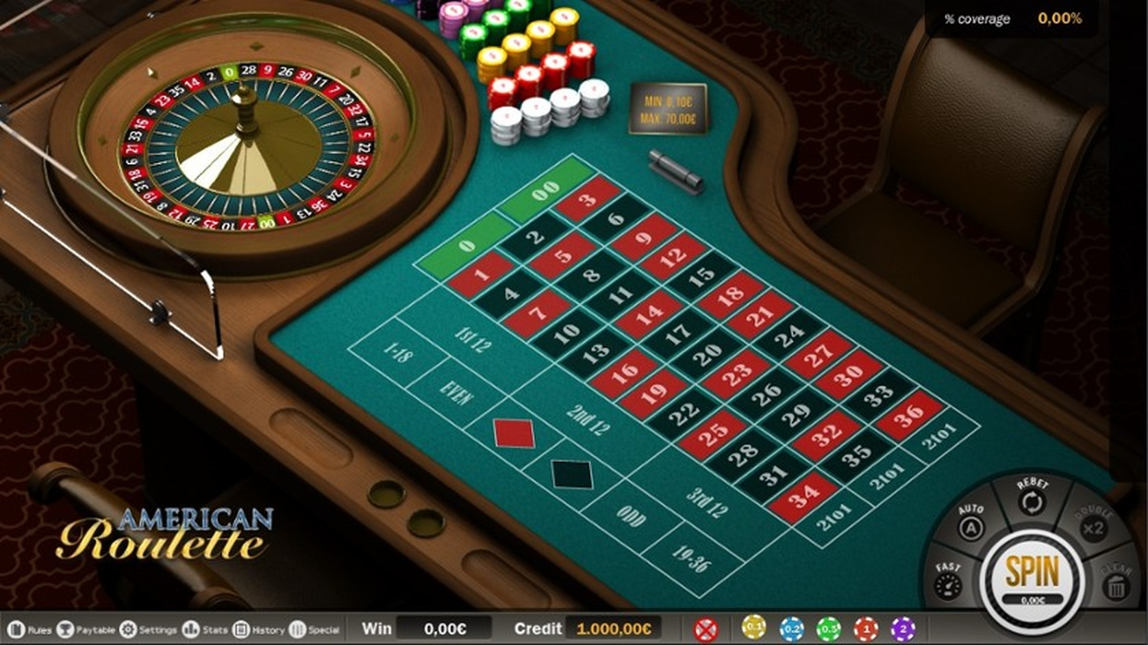 The American Roulette (Capecod Gaming) Online Slot Demo Game by Capecod Gaming