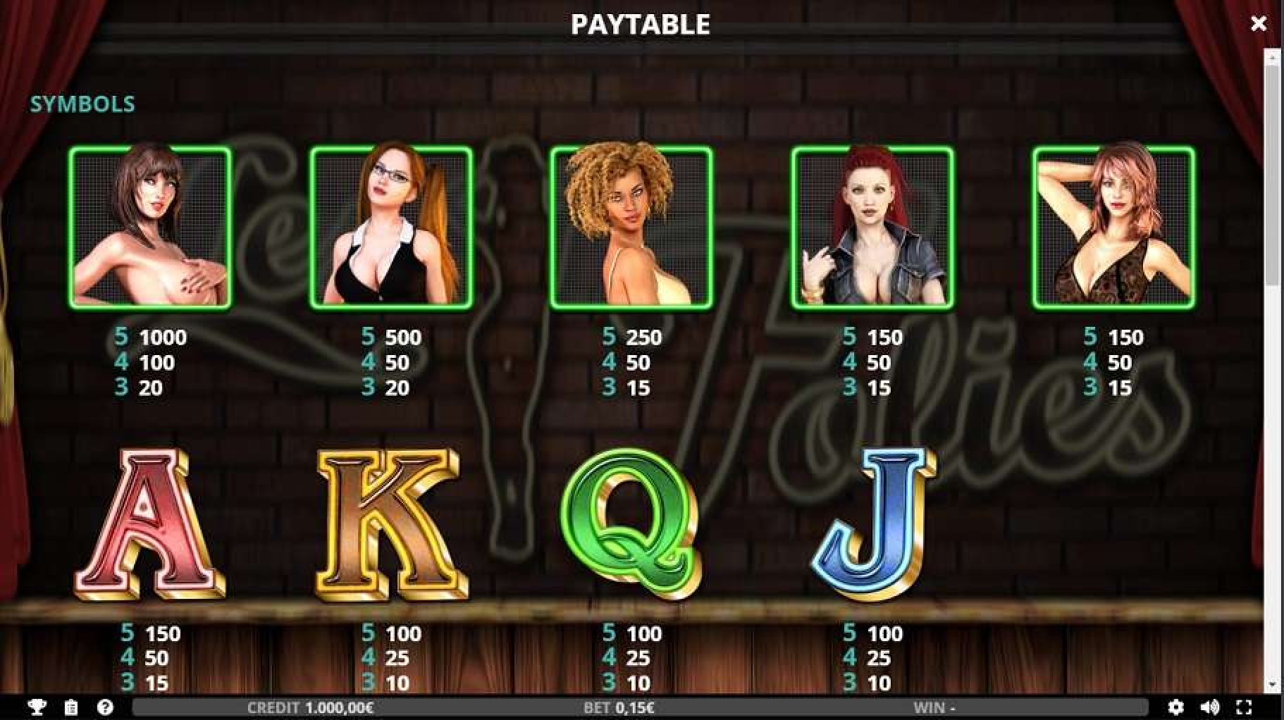 The Les Folies Online Slot Demo Game by Capecod Gaming
