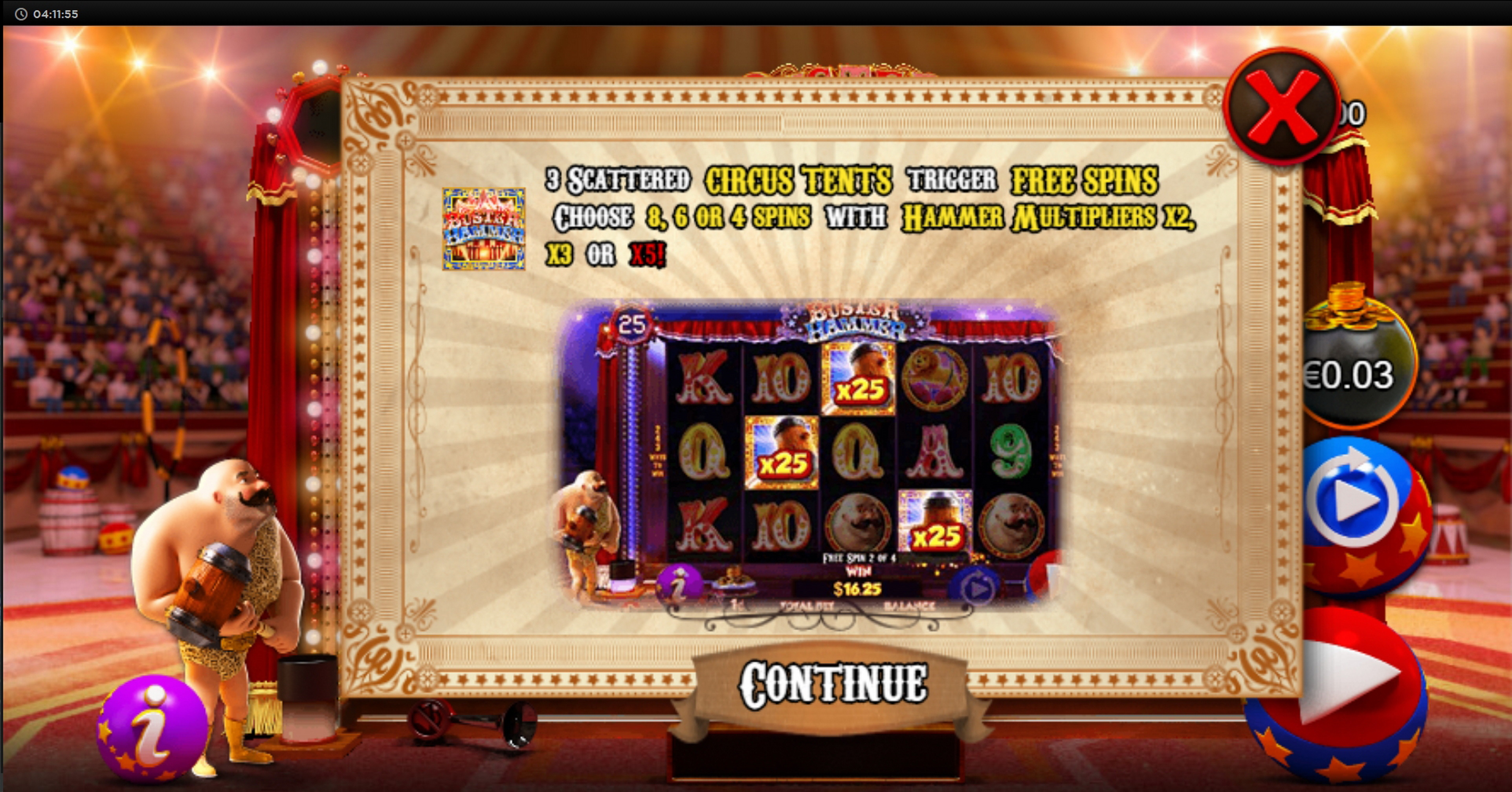Play Buster Hammer Free Casino Slot Game by Chance Interactive