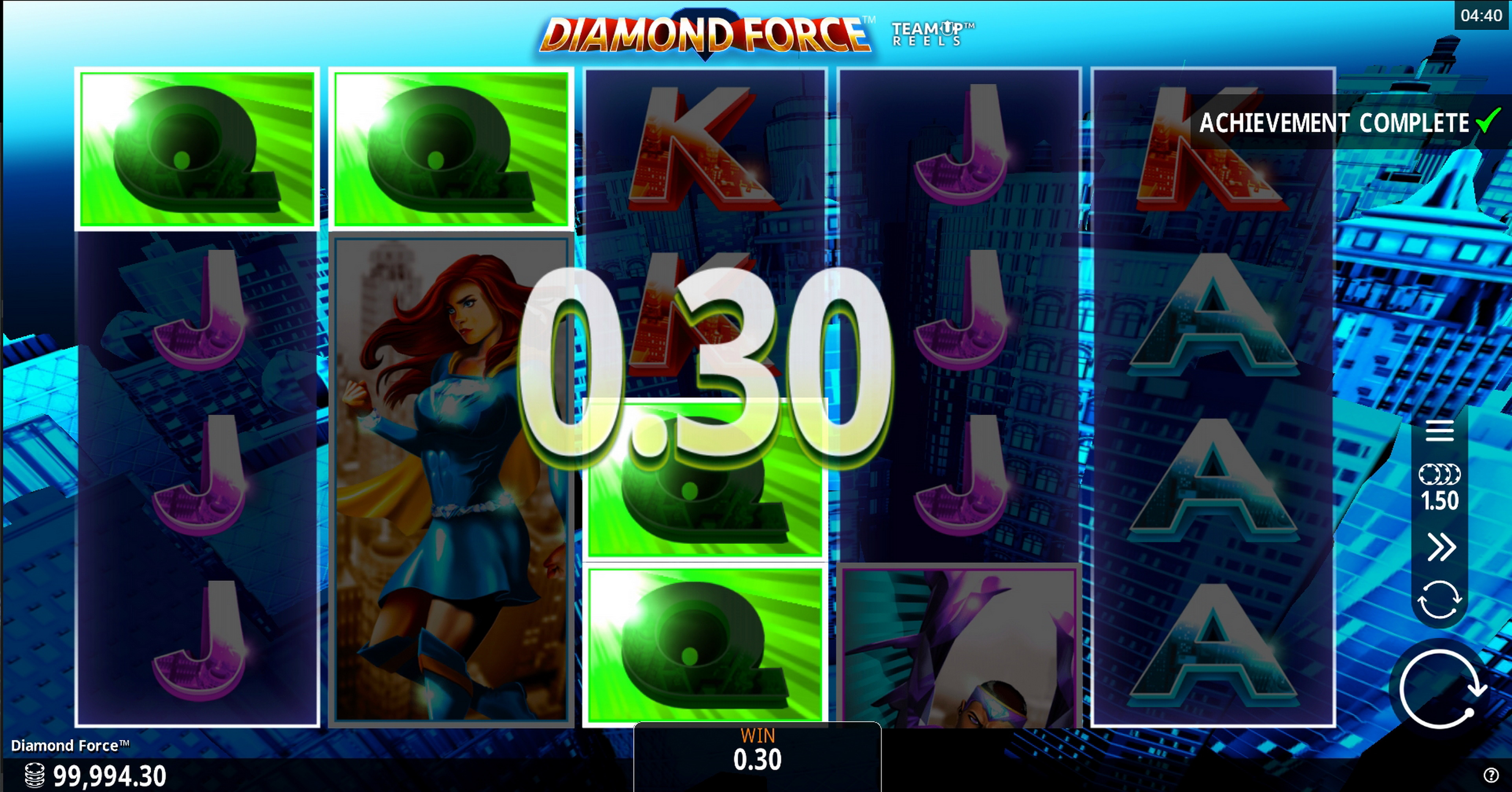 Win Money in Diamond Force Free Slot Game by Crazy Tooth Studio