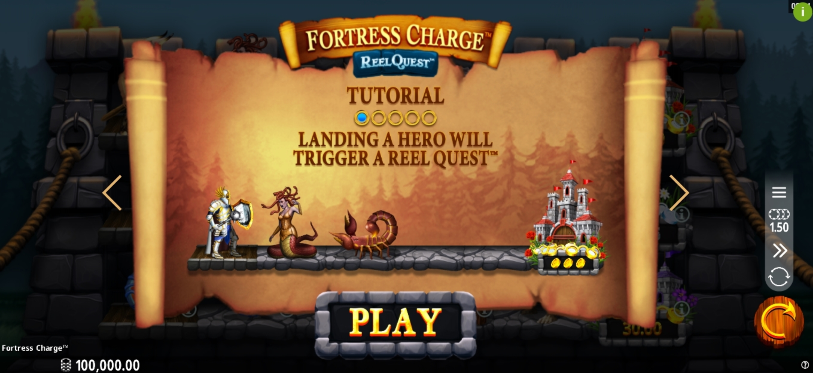 Play Fortress Charge Free Casino Slot Game by Crazy Tooth Studio