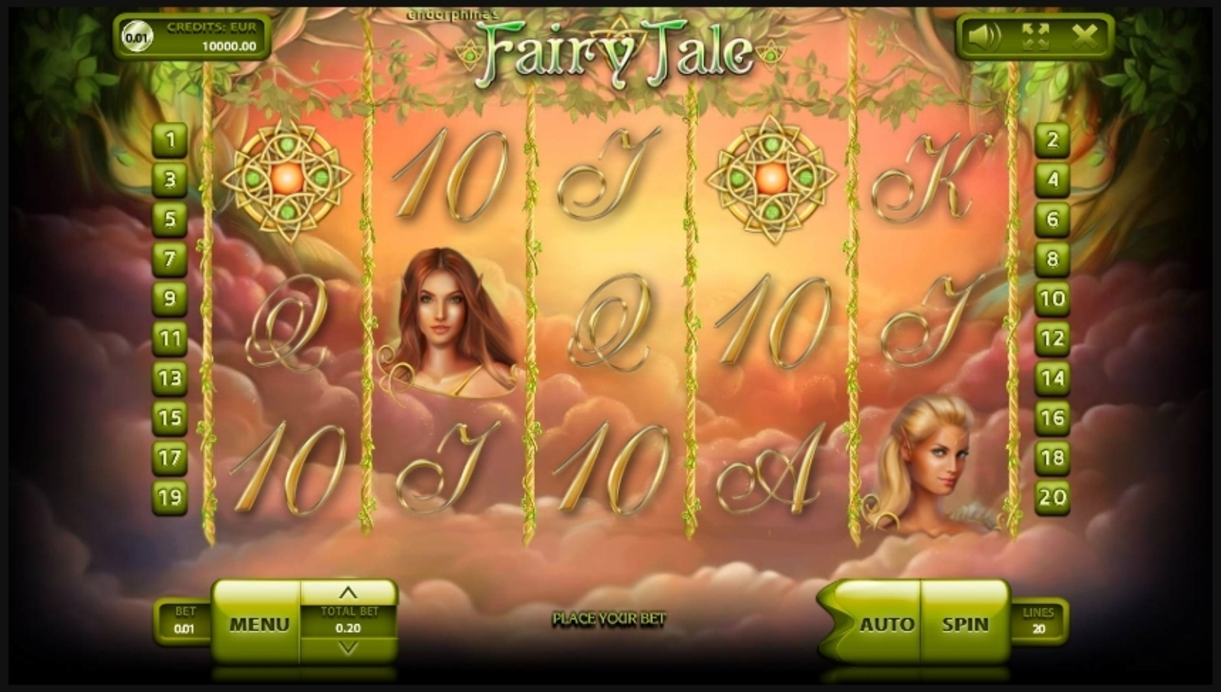 Reels in Fairy Tale Slot Game by Endorphina