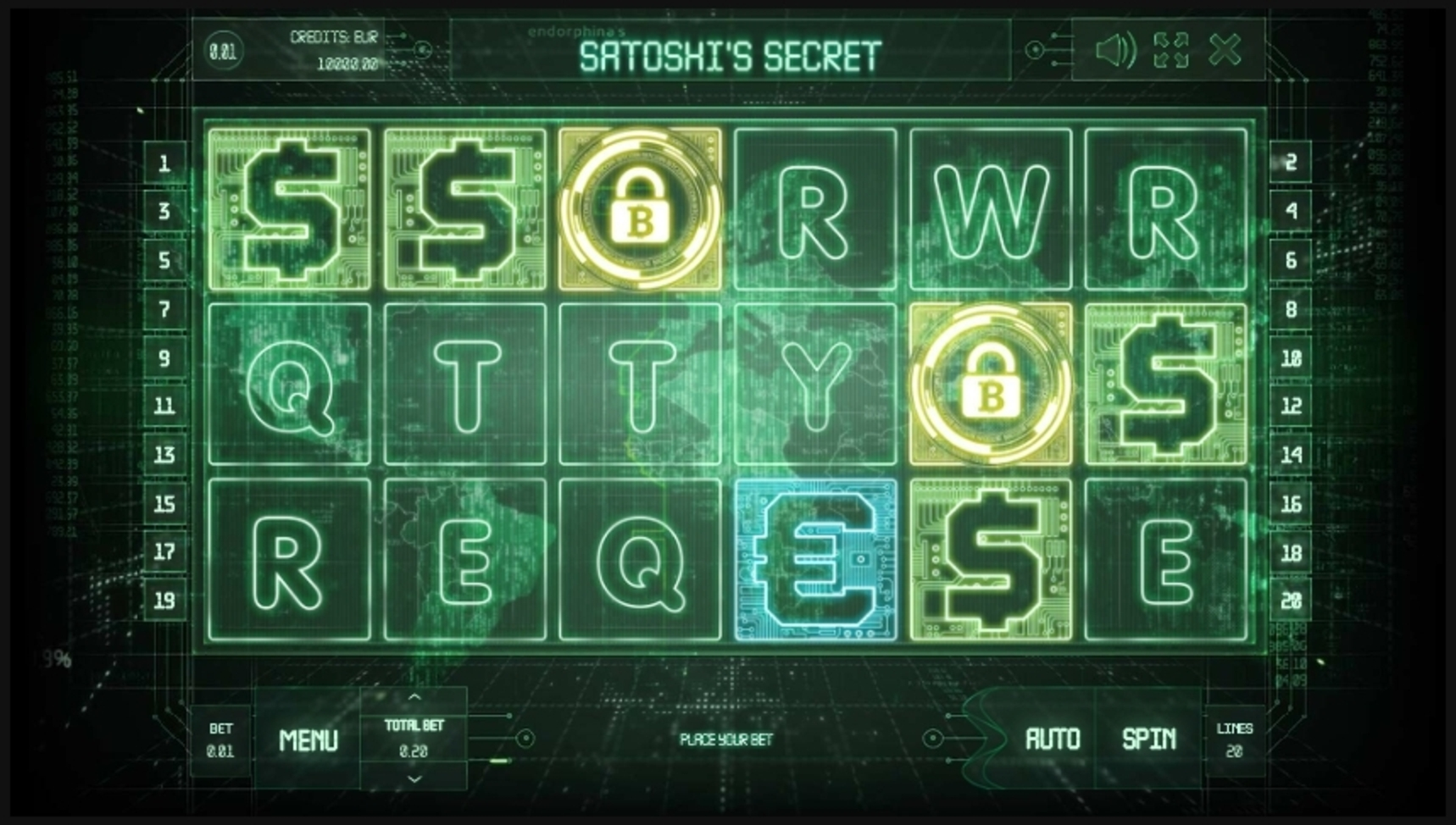 Reels in Satoshi's Secret Slot Game by Endorphina