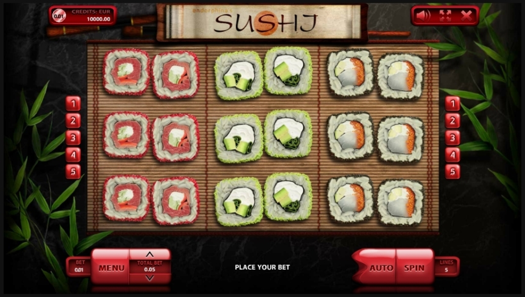 Reels in Sushi Slot Game by Endorphina