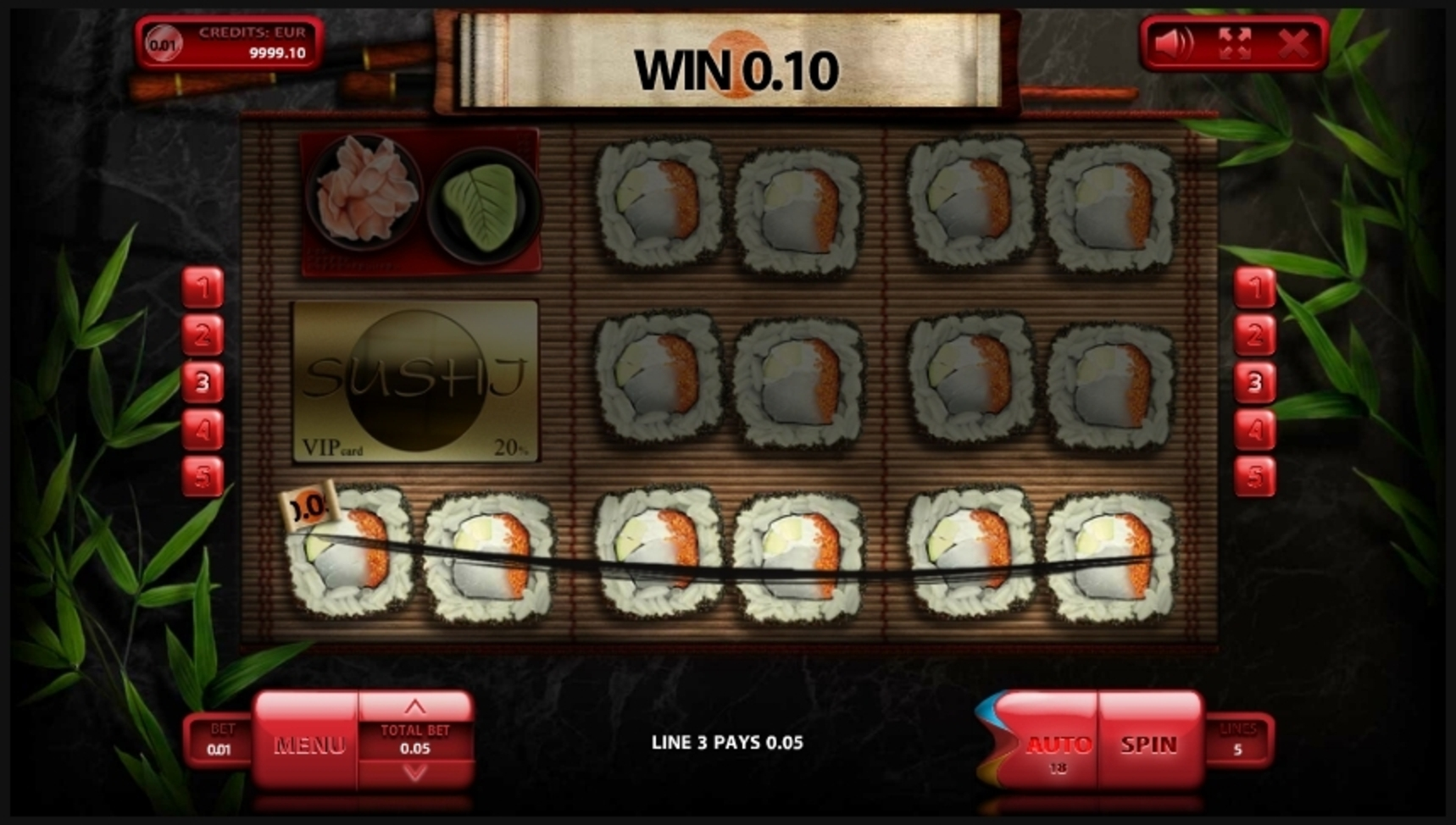 Win Money in Sushi Free Slot Game by Endorphina