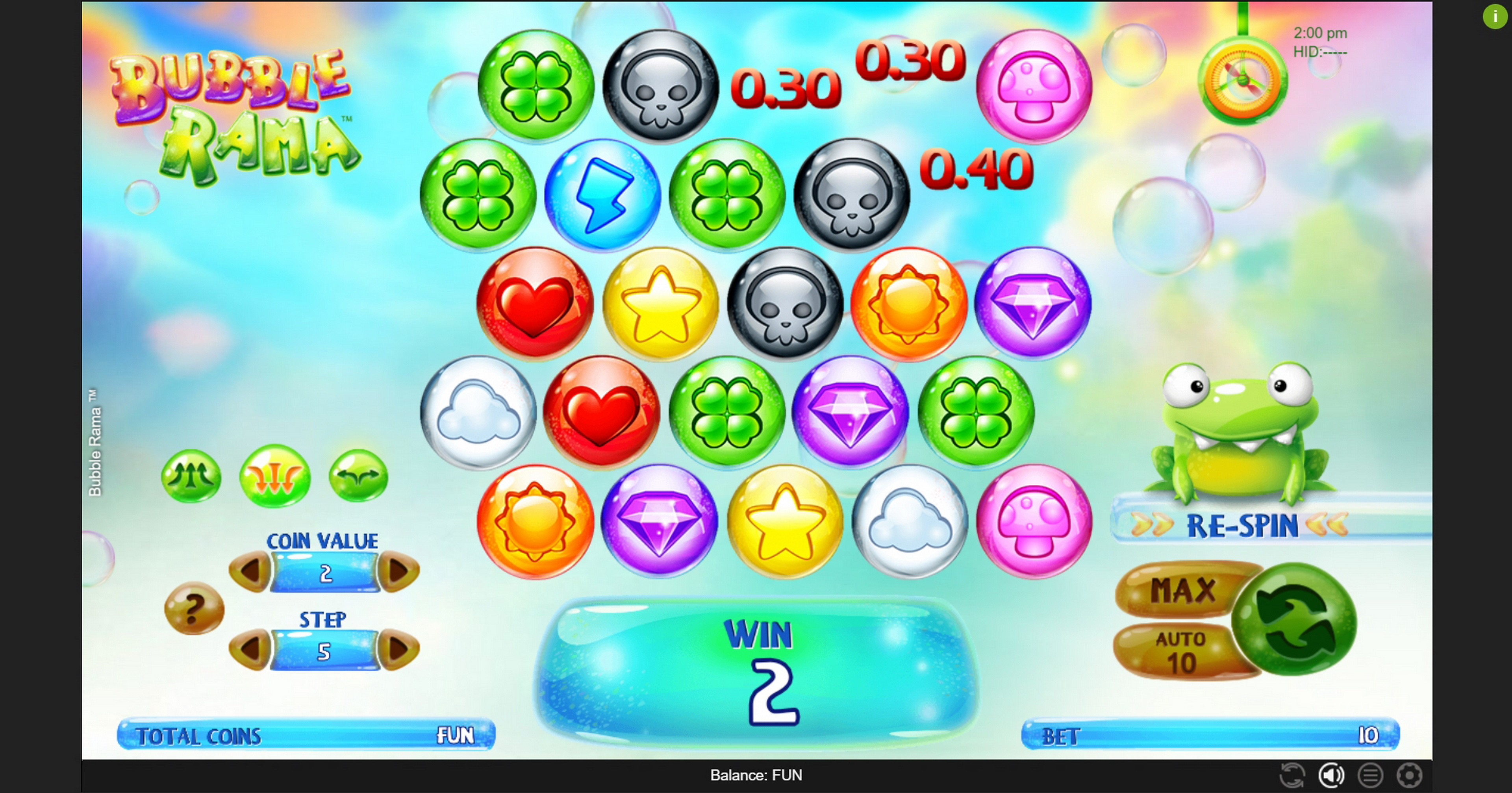 Win Money in Bubble Rama Free Slot Game by Espresso Games