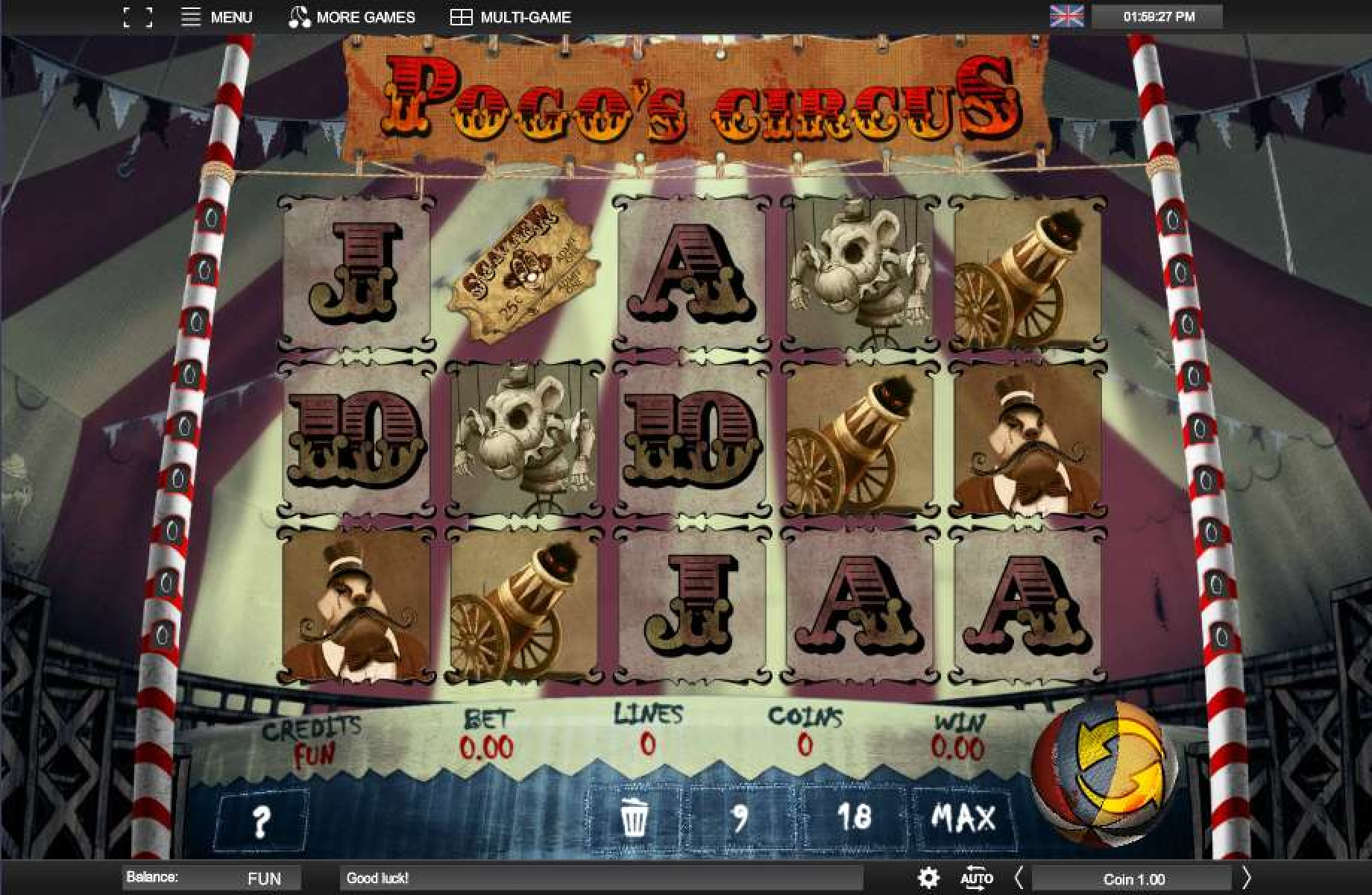The Pogo's Circus Online Slot Demo Game by Espresso Games