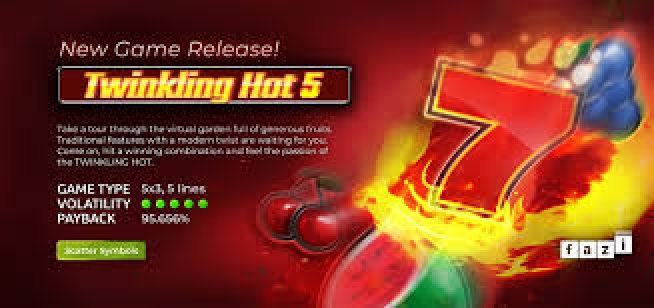 Win Money in Twinkling Hot 5 Free Slot Game by Fazi Gaming