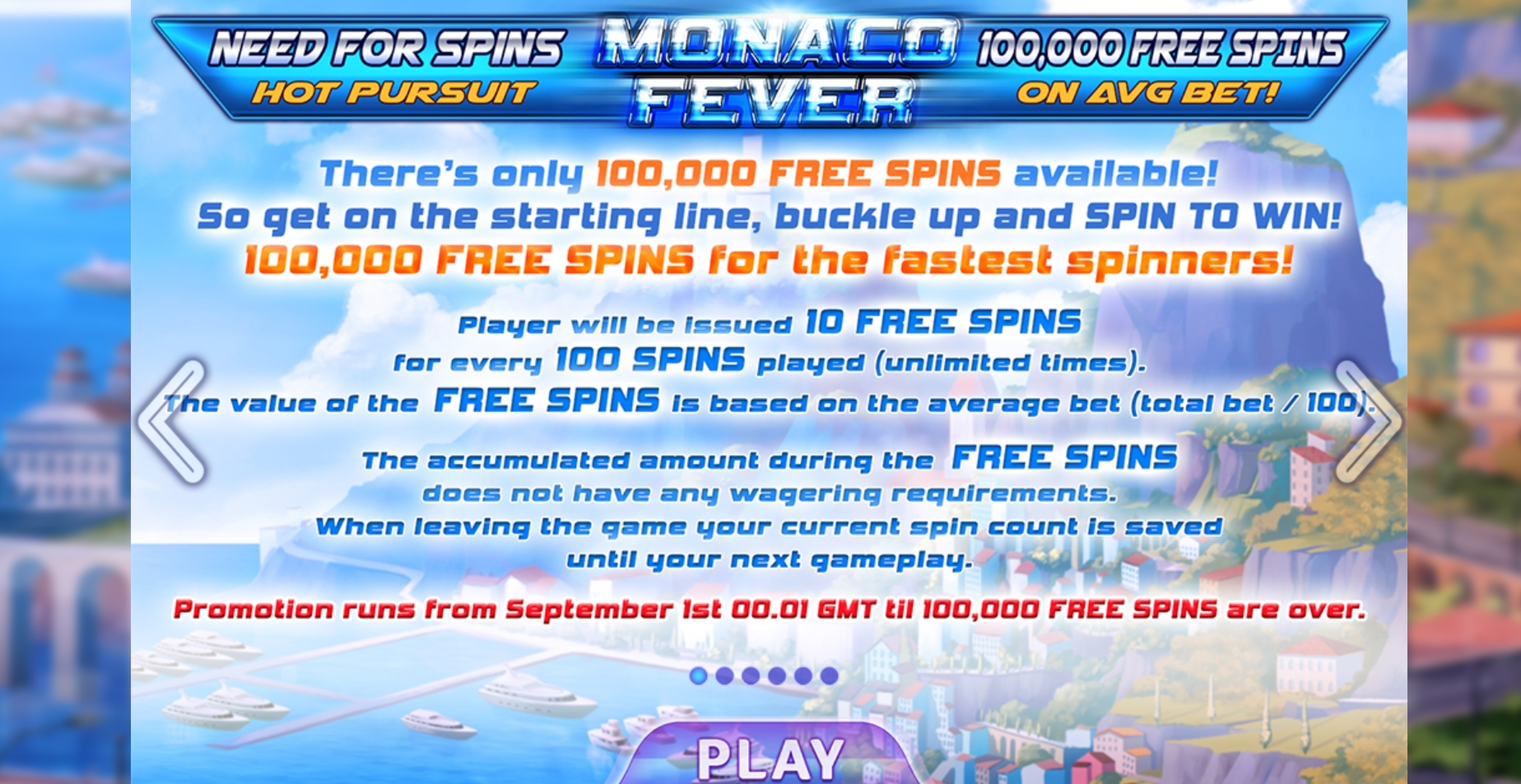 Play Monaco Fever Free Casino Slot Game by Felix Gaming