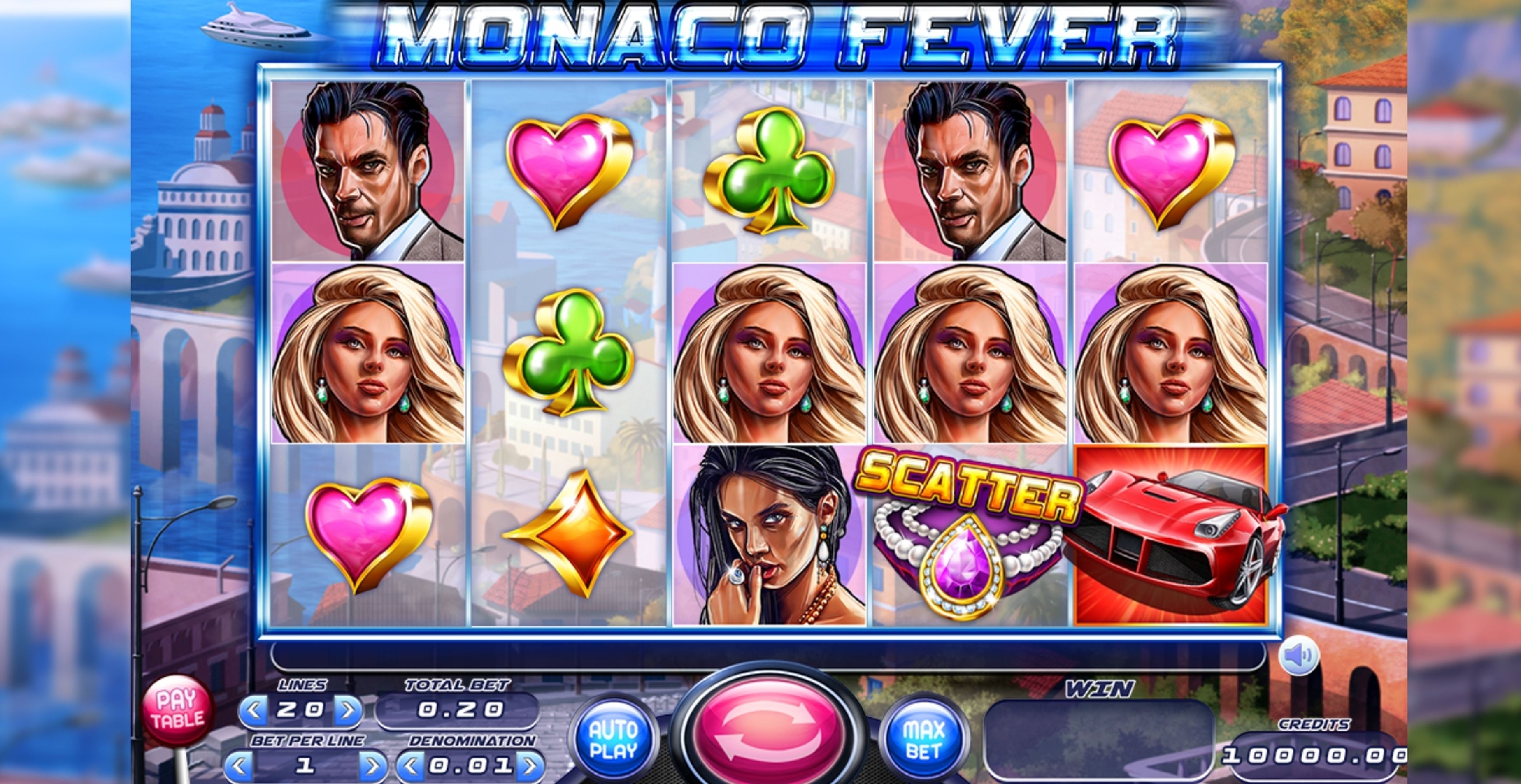 Reels in Monaco Fever Slot Game by Felix Gaming