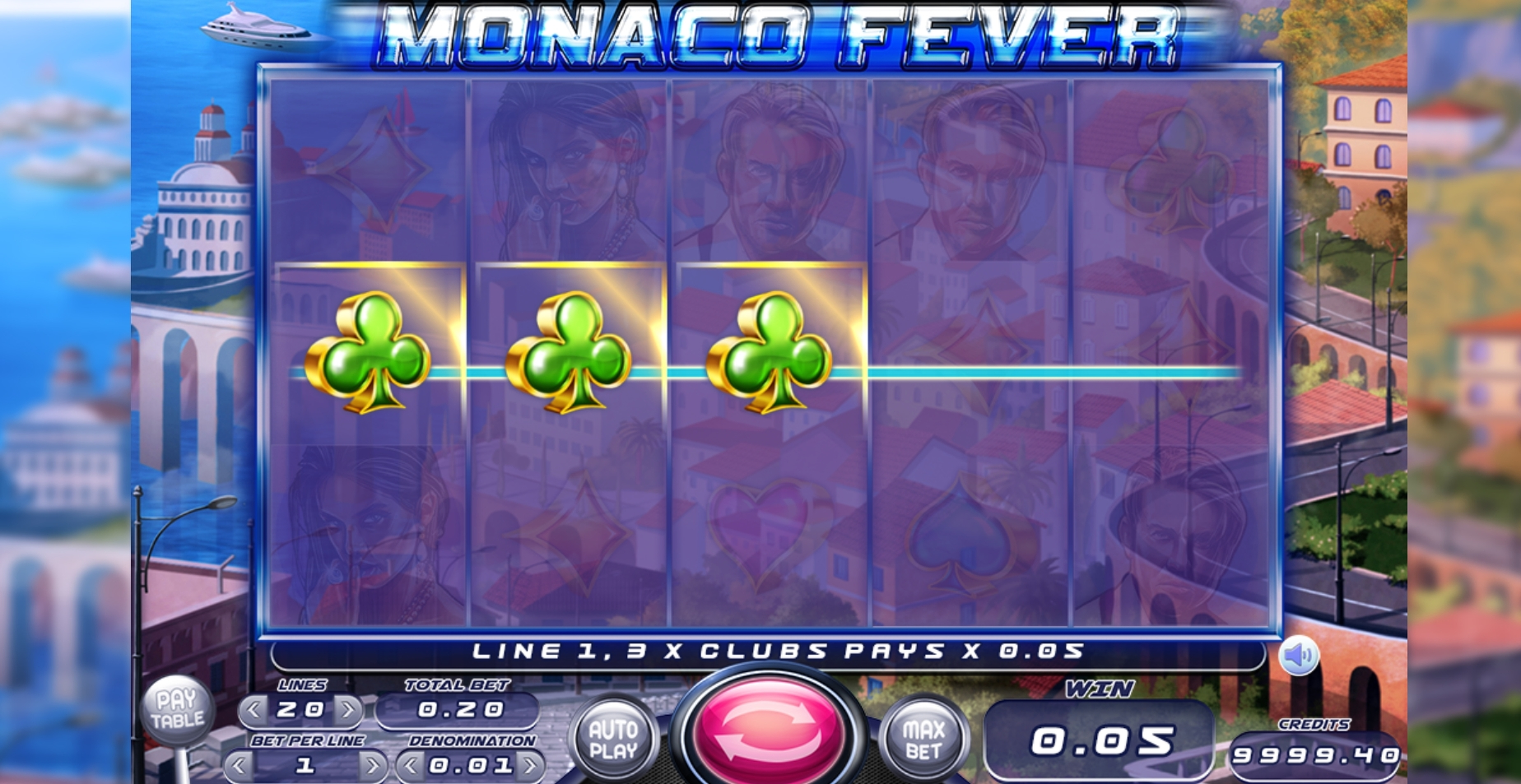 Win Money in Monaco Fever Free Slot Game by Felix Gaming
