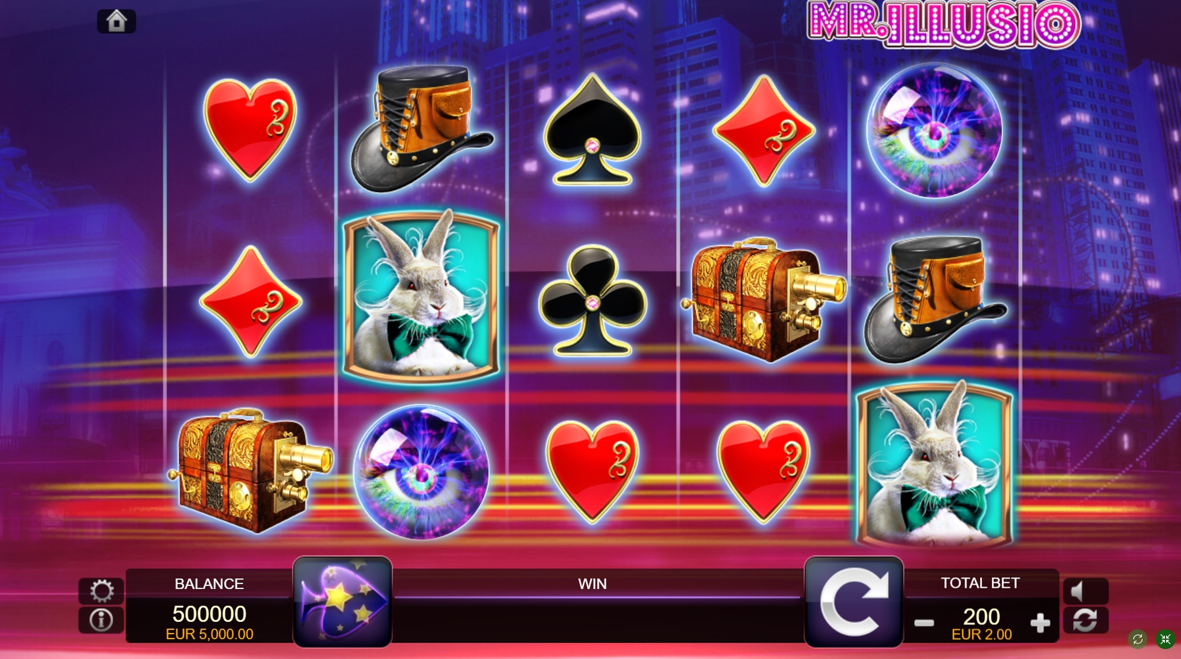 Reels in Mr. Illusio Slot Game by FUGA Gaming